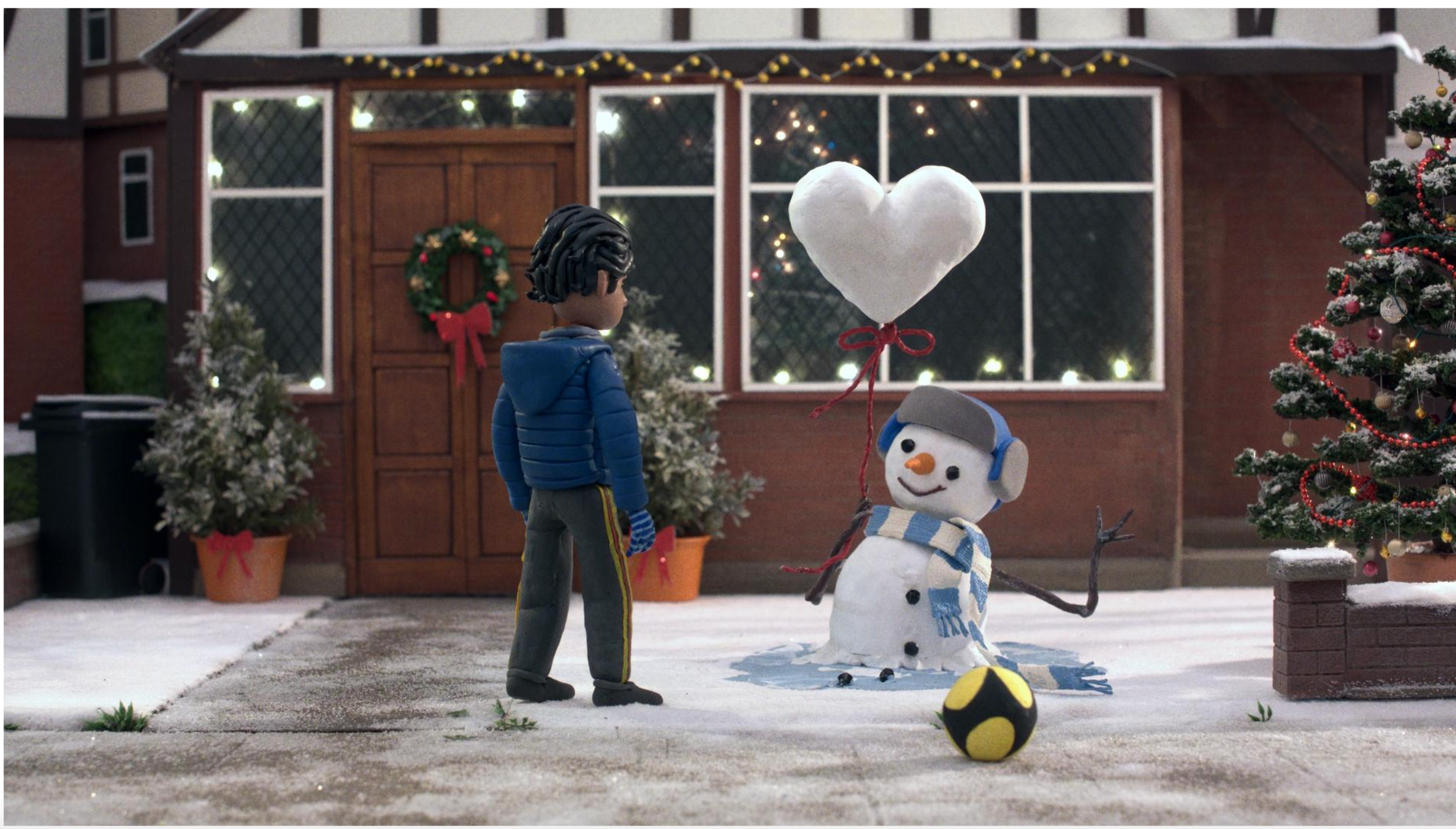 Above: A still from the multi-faceted John Lewis Christmas advert, which championed kindness as well as showcasing animation talents.
