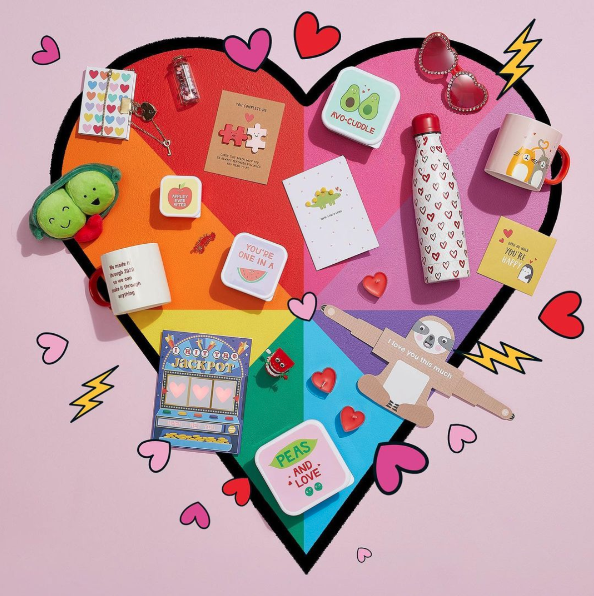Above: An Instagram post to promote Paperchase's Valentine's range.