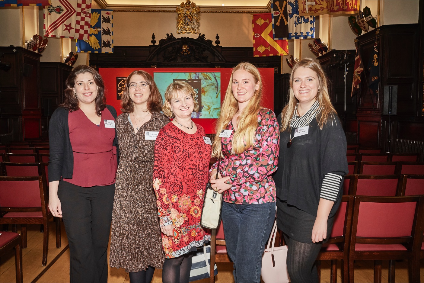Above: Frances Bodiam (centre) with some of her colleagues at The Calies awards.