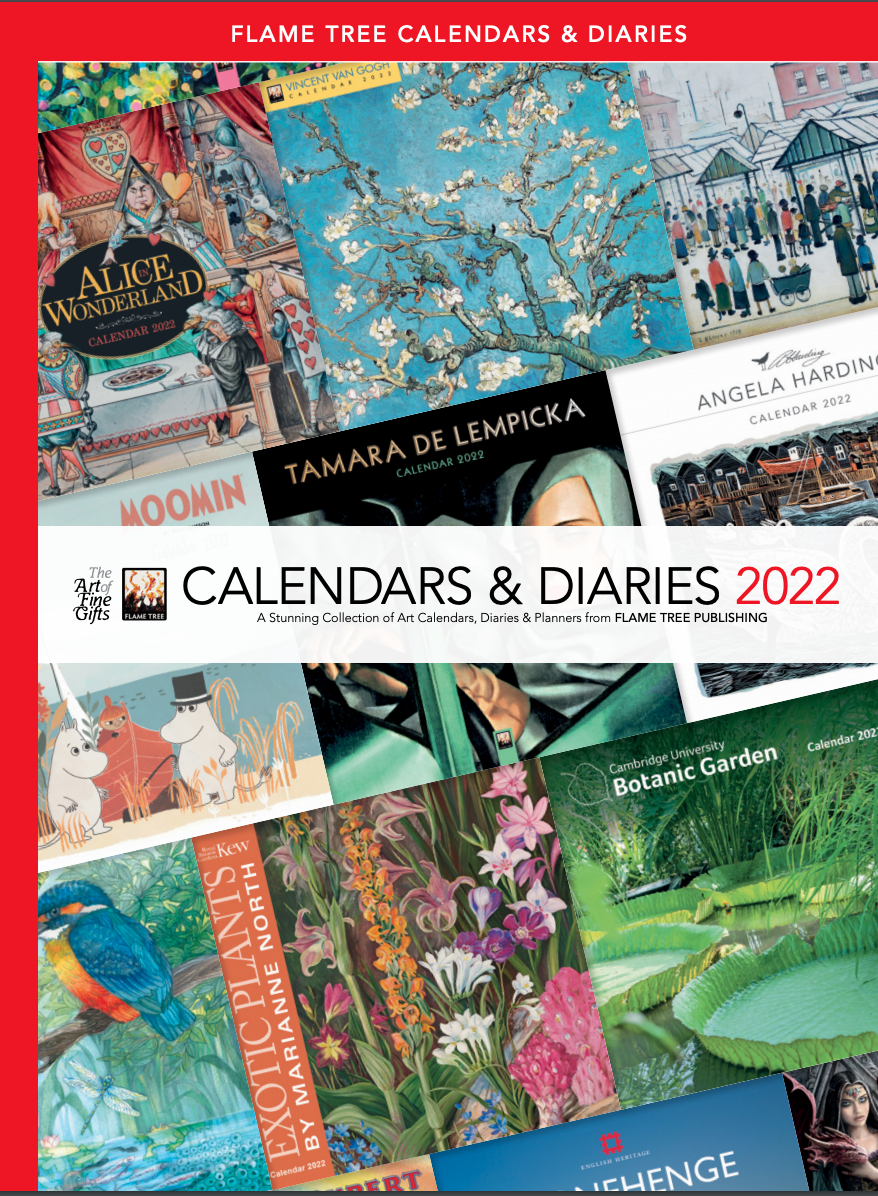 Above: The Flame Tree Publishing catalogue for 2022 dated products is now available.