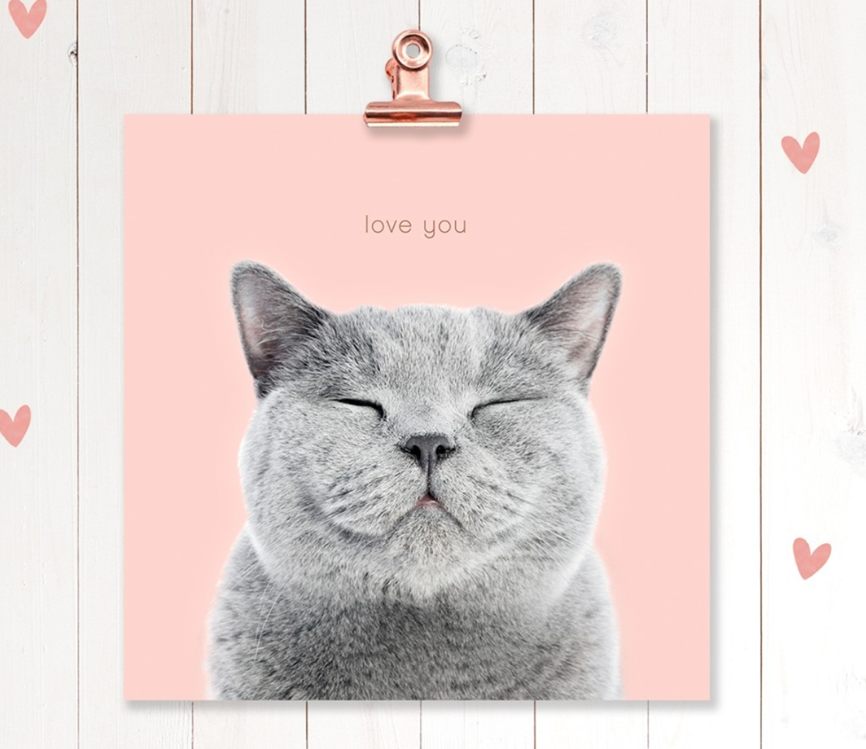 Above: One of the adorable Valentine's Day designs from UK Greetings that it has posted on social media.