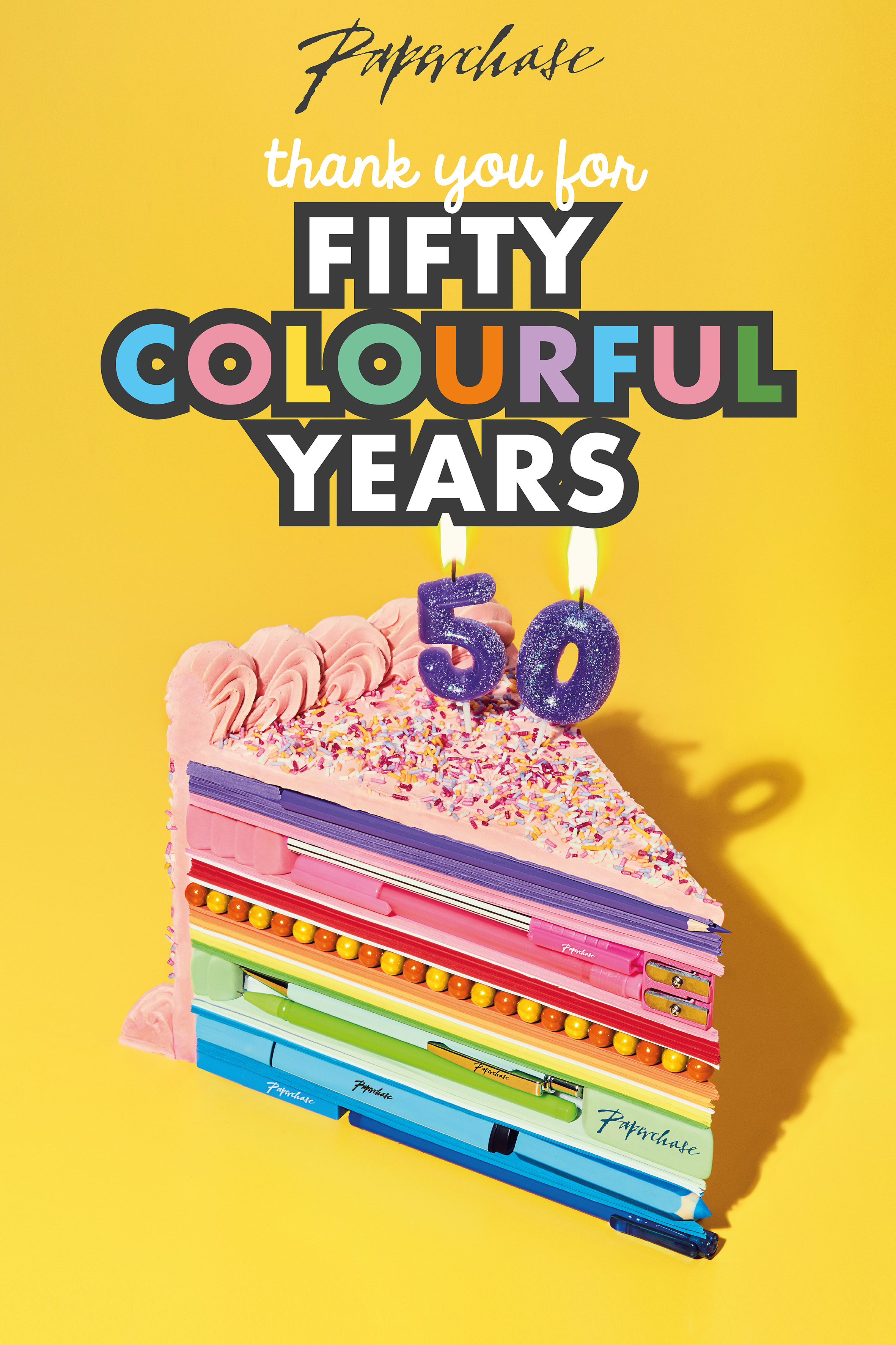 Above: In 2018 Paperchase celebrated its 50th anniversary.