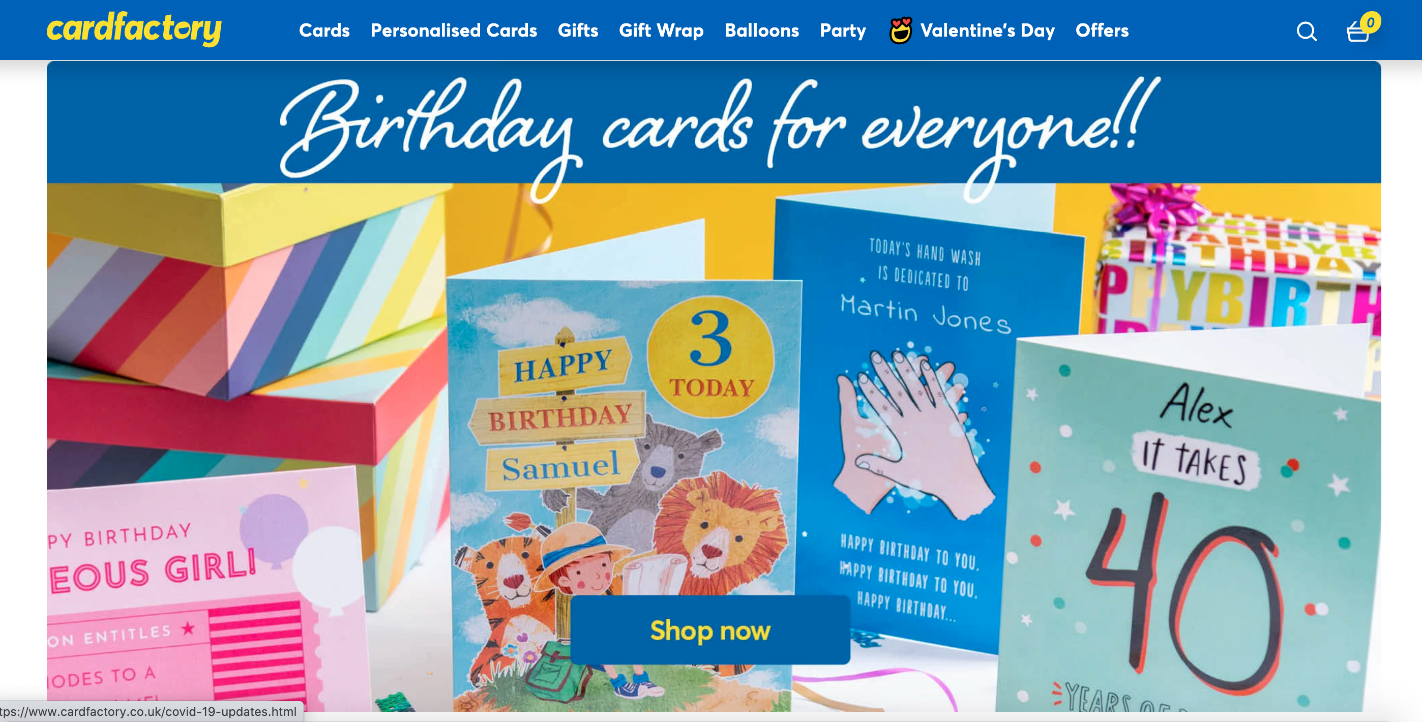 Above: Known for its value proposition, Card Factory is having to work hard for investors.