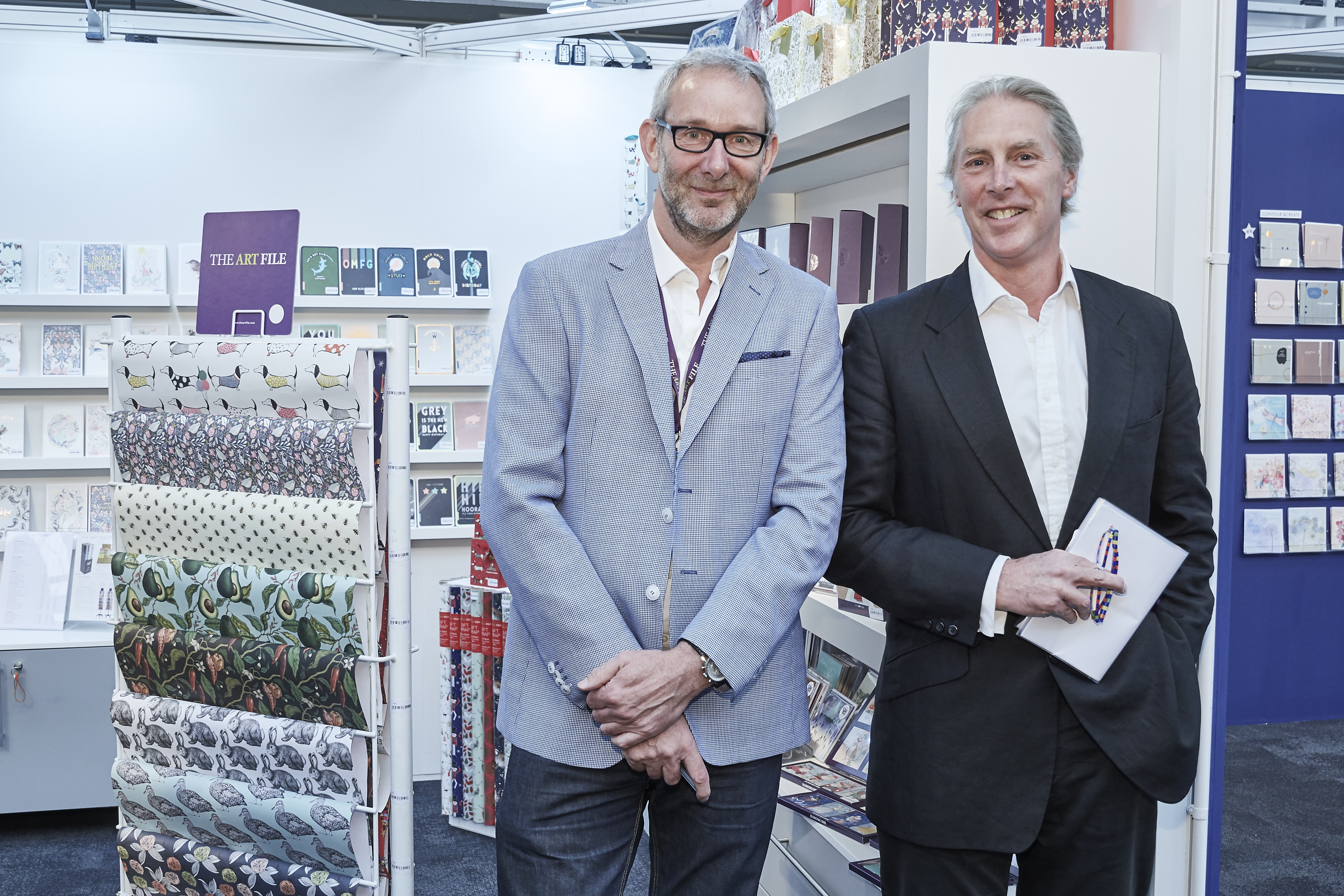 Above: The Art File's Ged Mace (left) with Timothy Melgund, Paperchase's long serving ceo for many years, but now has a non-exec position as deputy chairman of the business.