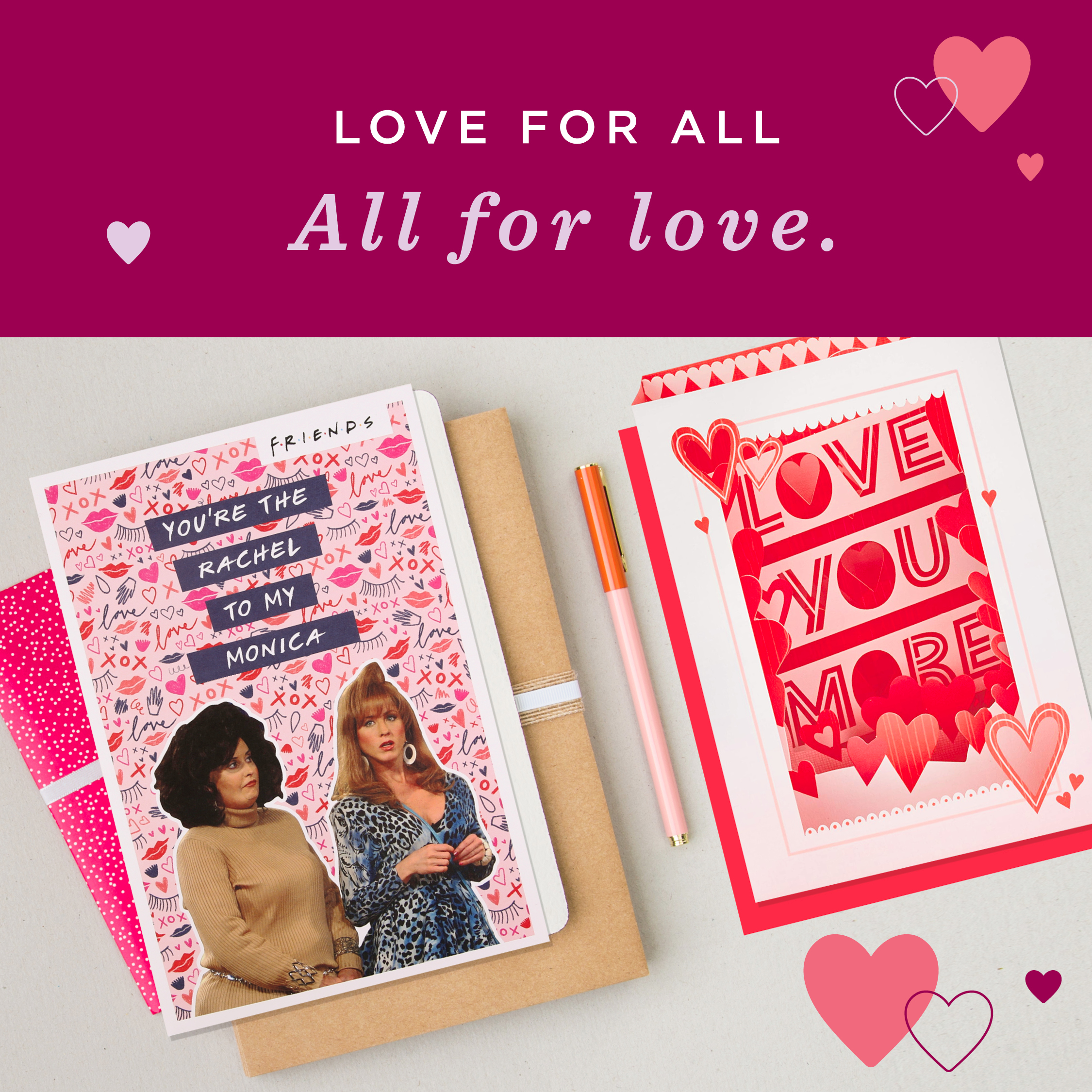 Above: Hallmark has taken to social media channels with its 'Love for all, all for love' Valentine's activity. There's also an insert going in each order from Hallmark.co.uk talking about lockdown love with fun ideas of how to share love including self-care.
