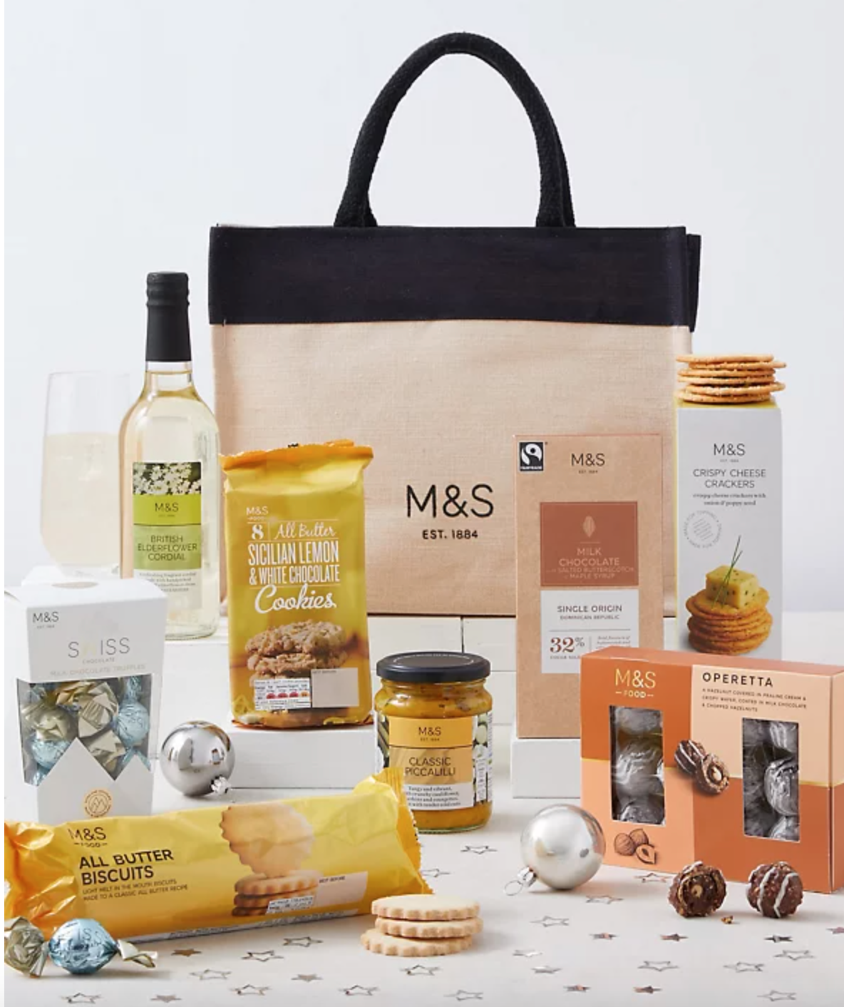 Above: There are M&S hampers up for grabs for three lucky participants.