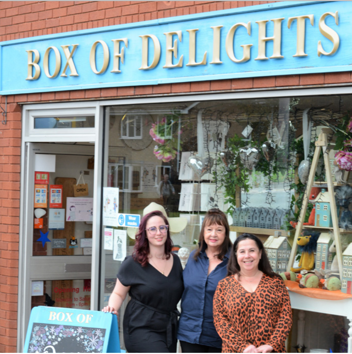 Above: Box of Delights is a three generation business. Michelle (right) with her mum and daughter.