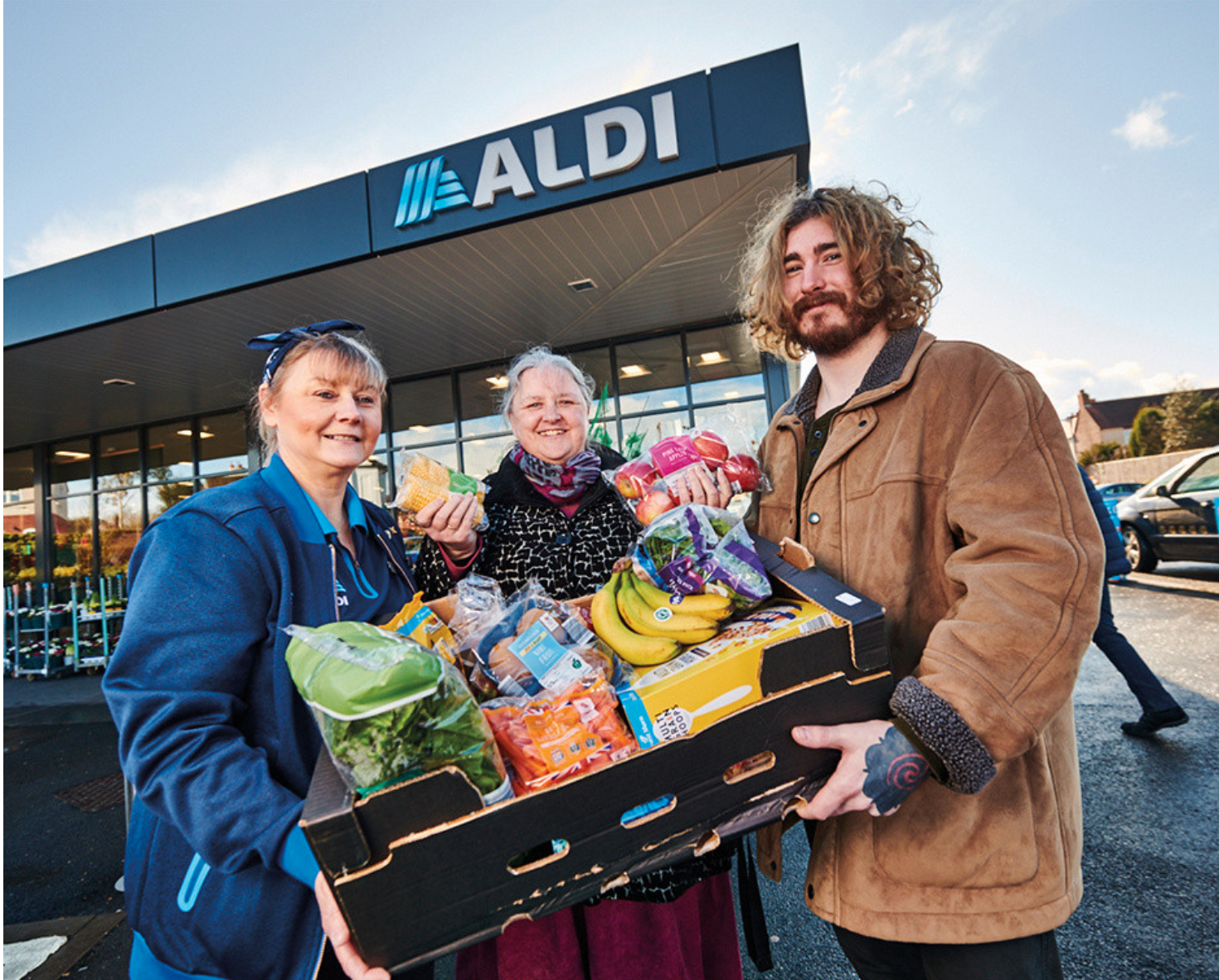Above: Aldi is working with Neighbourly to pledge 10 million meals for the needy over 2021.