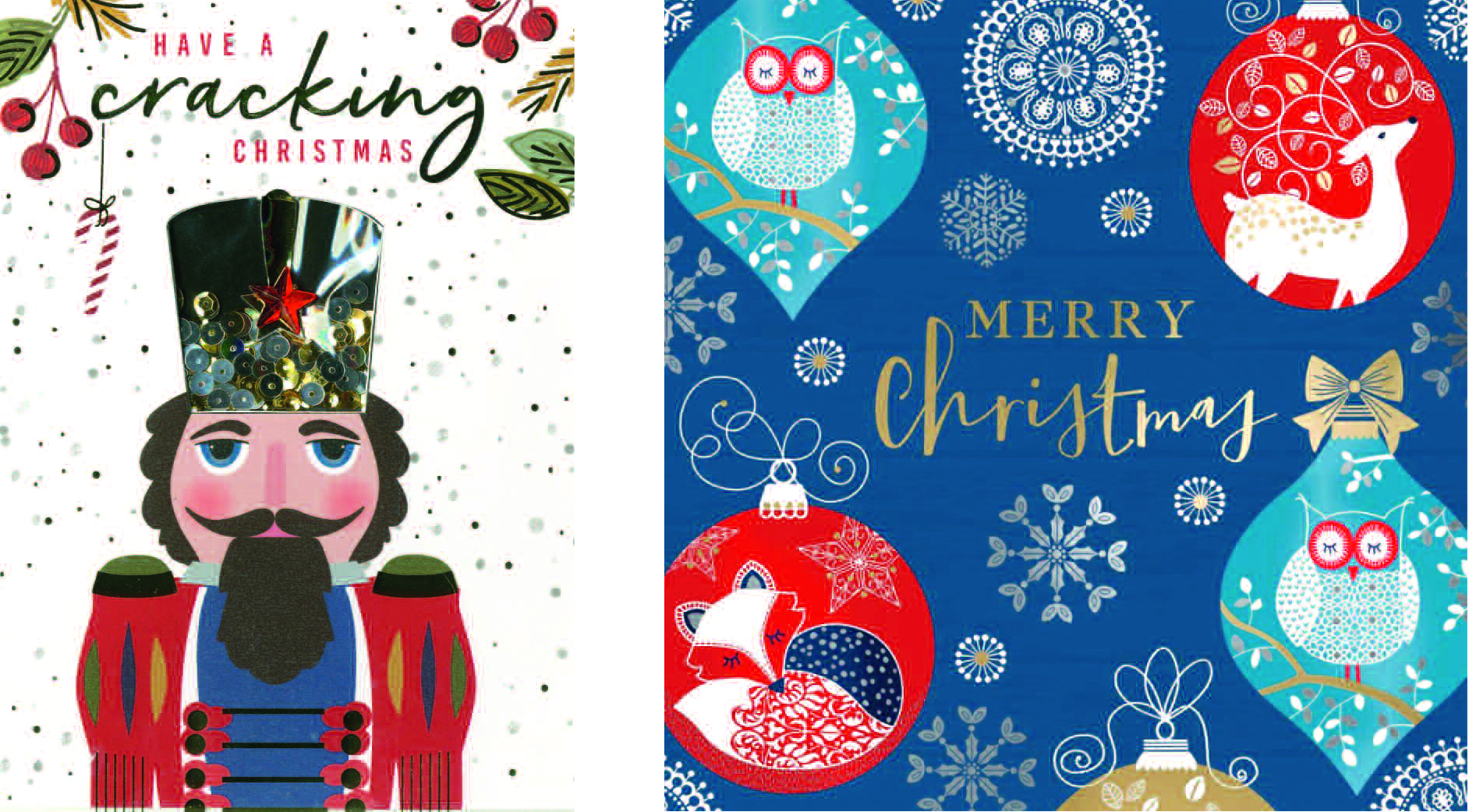 Above: Christmas designs from Second Nature's Autograph and Motif collections.