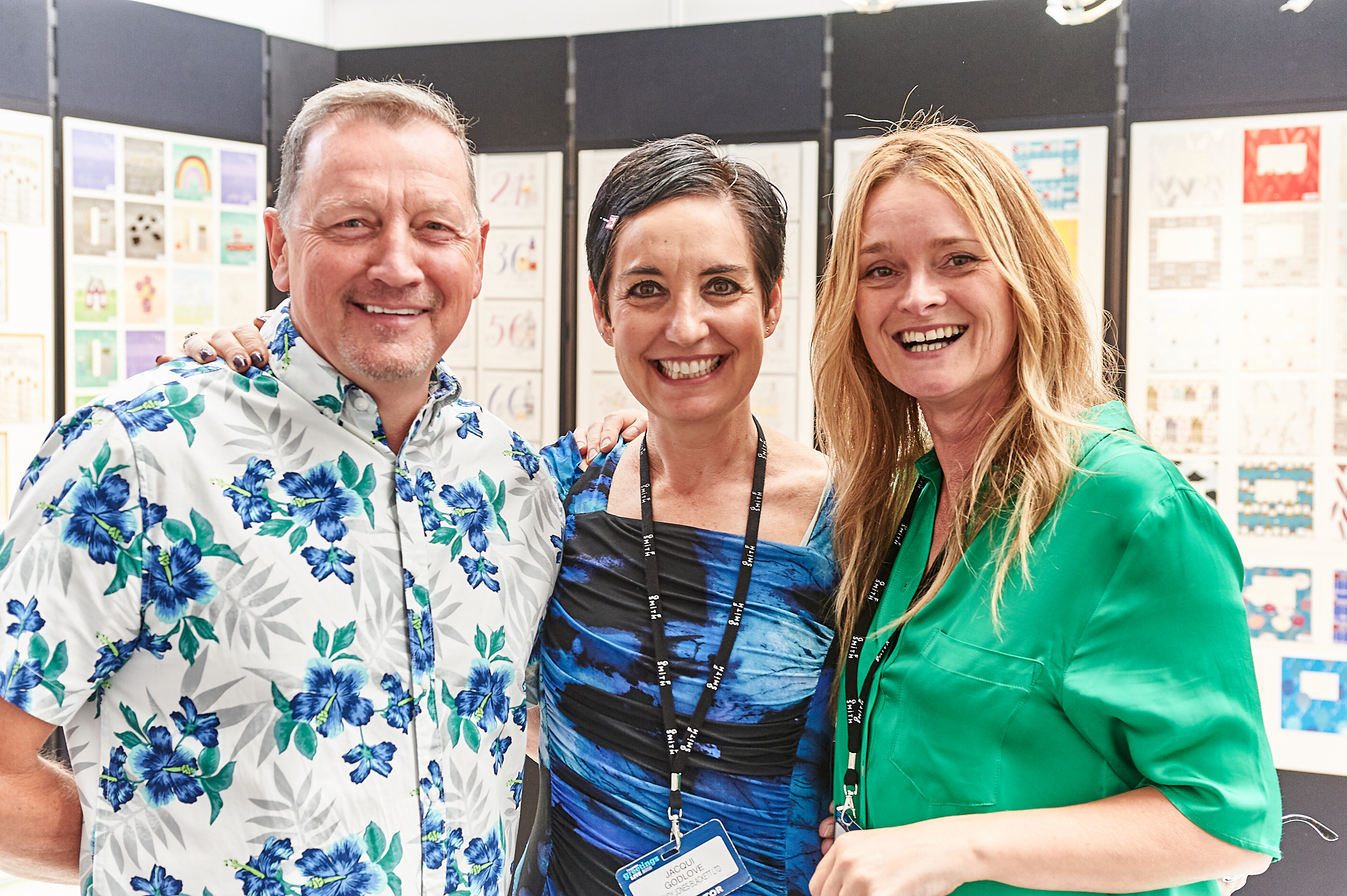 Above: Wendy Jones-Blackett (right) with colleague Jacqui Godlove and agent Nigel Spensley at PG Live.