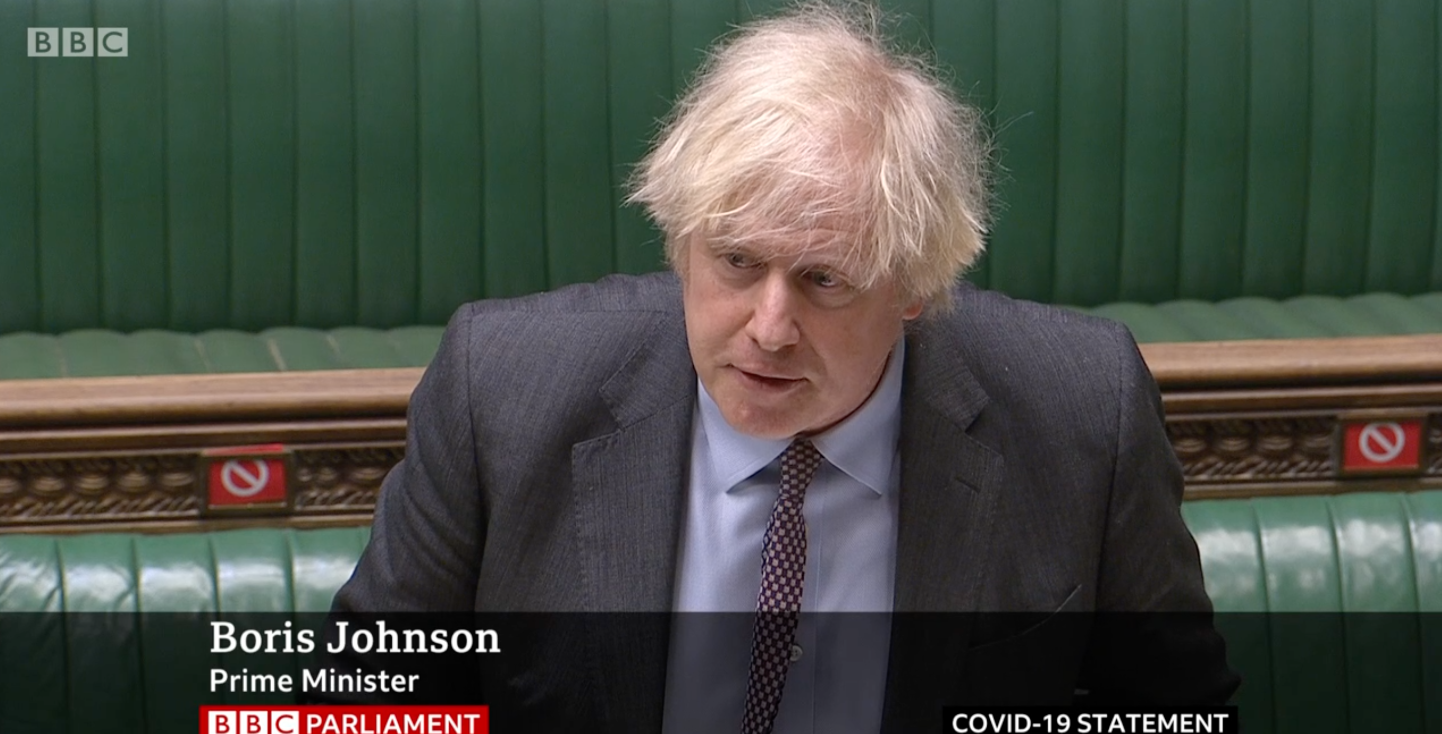 Above: Boris Johnson acknowledged that the extended lockdown had caused pain to businesses.