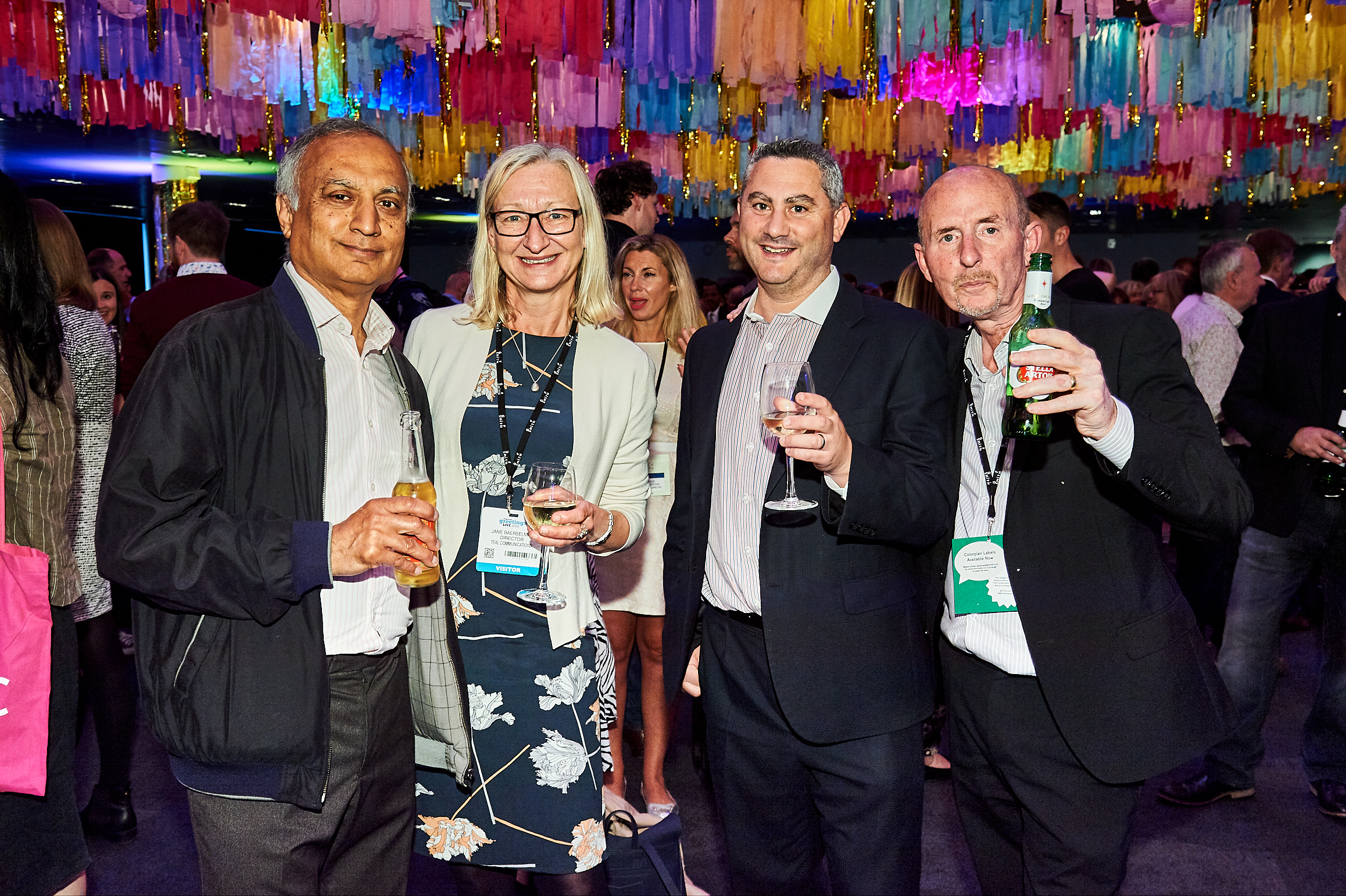 Above: Daniel Prince (second left) with Danilo colleagues at the PG Live opening night party.