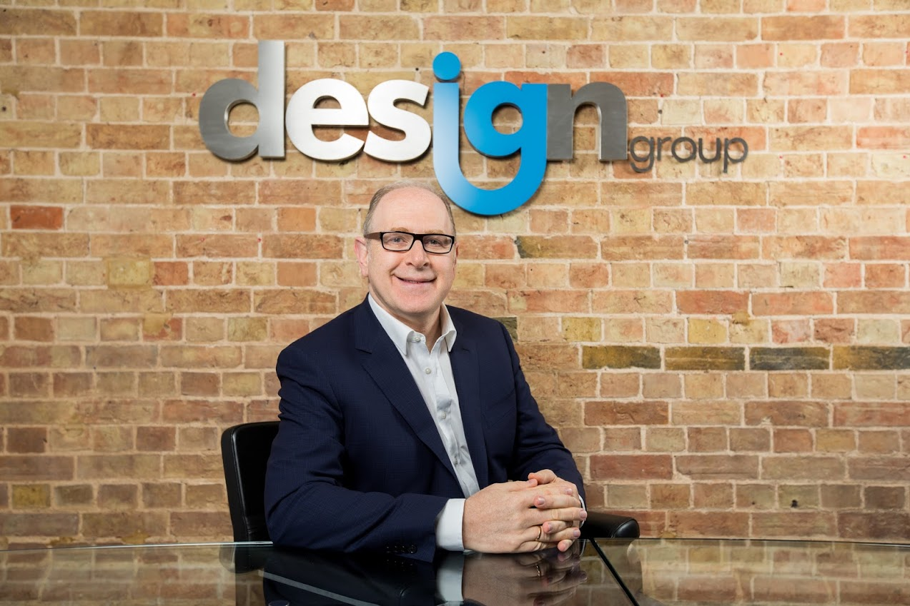 Above: IG Design Group's ceo Paul Fineman has reason to smile – as the group's trading statement makes good reading.
