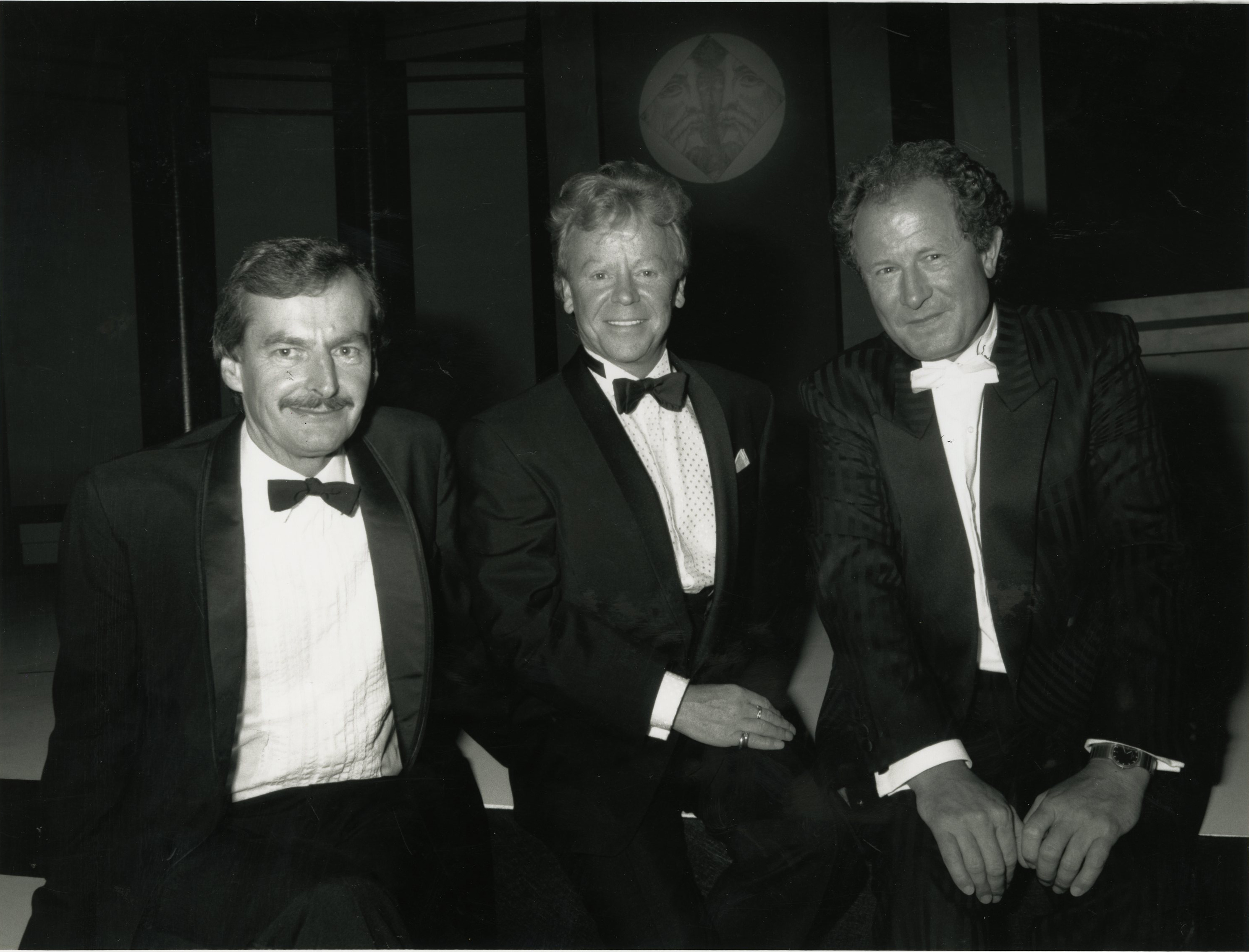 Above: Three greeting card 'muskateers'. (Left-right) Simon Elvin (founder of Simon Elvin), Jeff Bottomley (founder of Kingsley Cards) and Andrew Brownsword (founder of Andrew Brownsword Collection) at a GCCA event many moons ago.