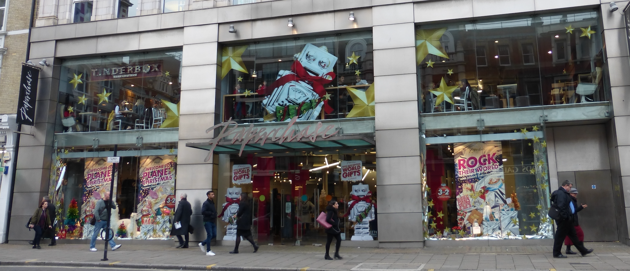Above: Paperchase's huge flagship store in Tottenham Court Road will not be reopening.