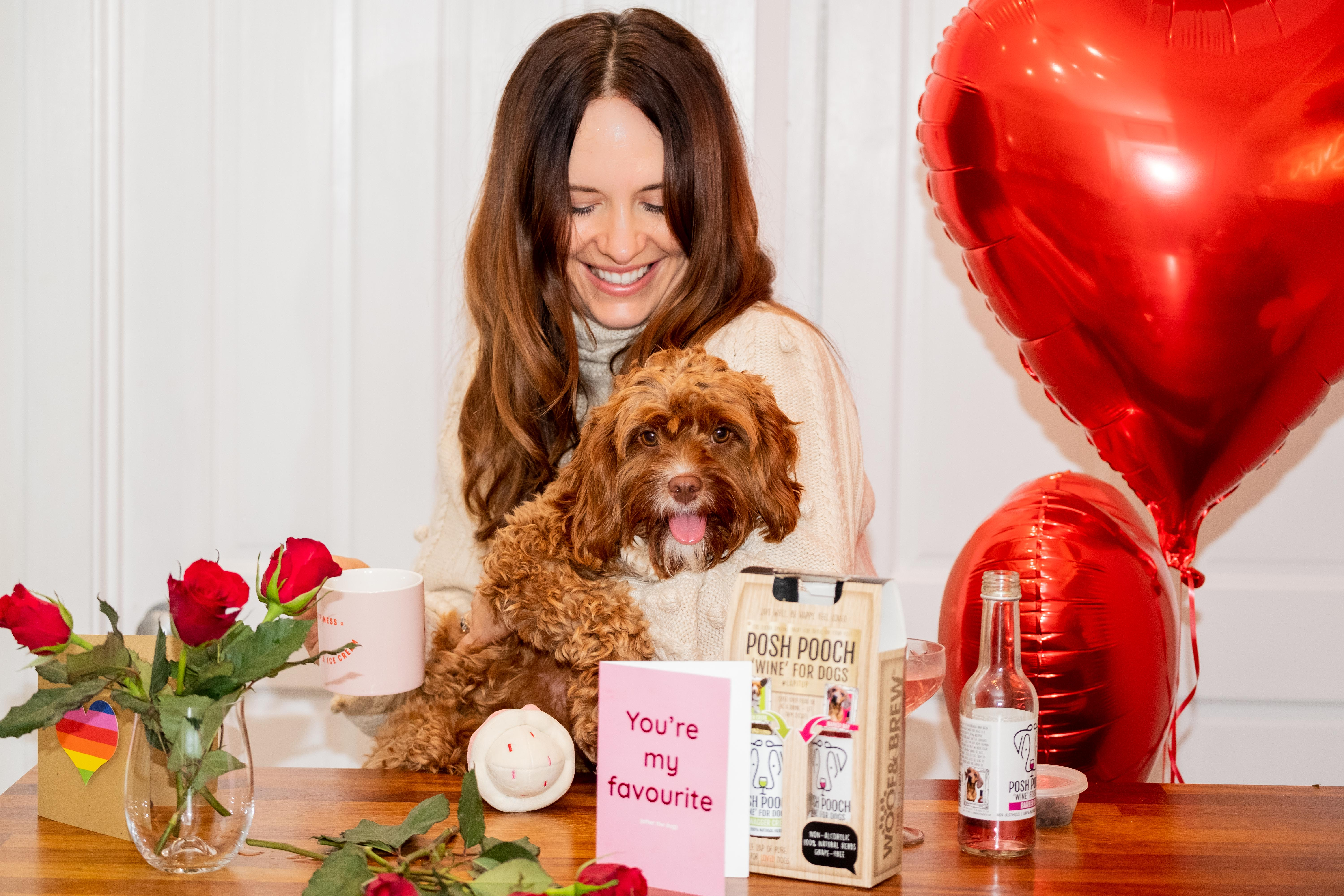 Above: John Lewis & Partners is among the retailers to have flagged up pet-related sales this Valentine's Day.