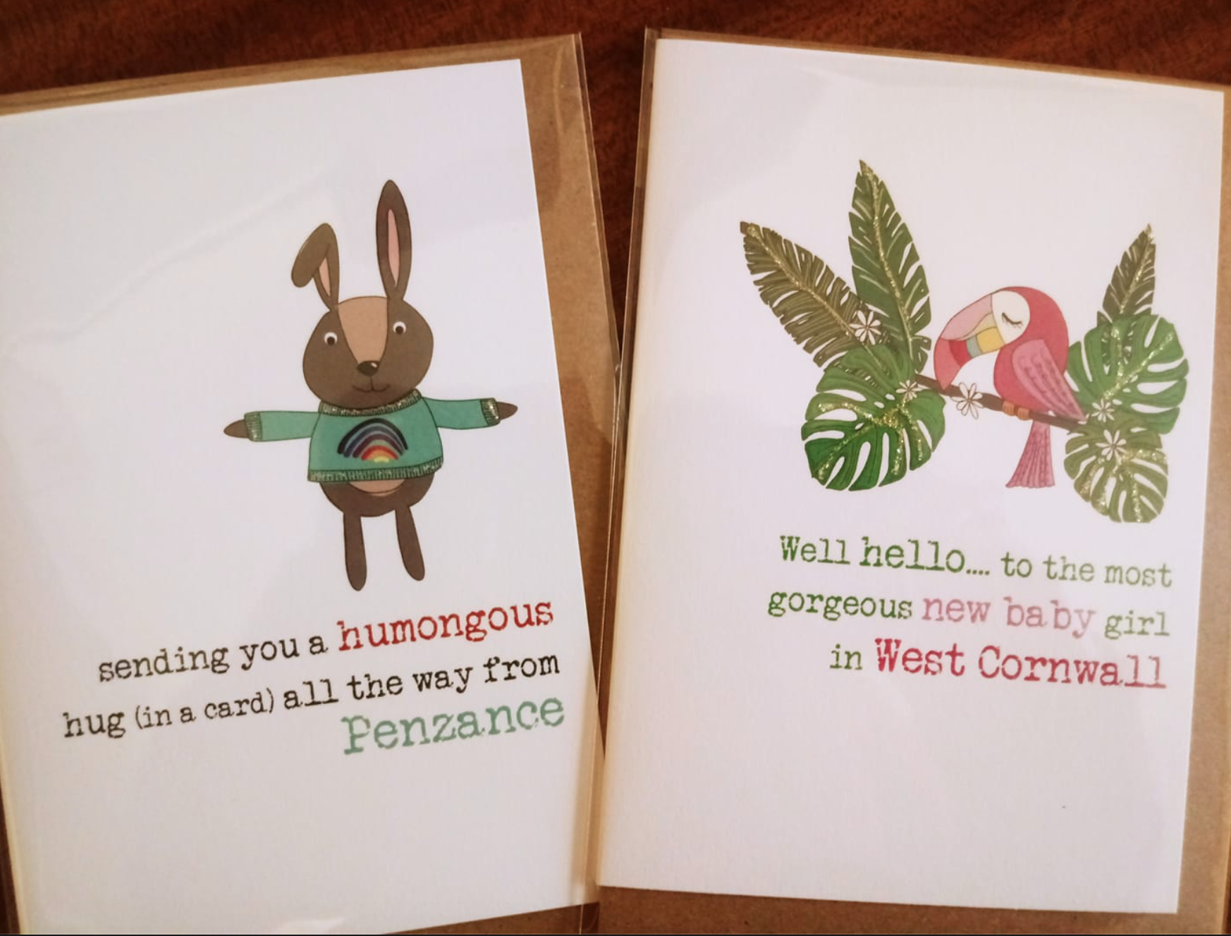 Above: Two designs from Dandelion Stationery that do well with Cardtime customers.