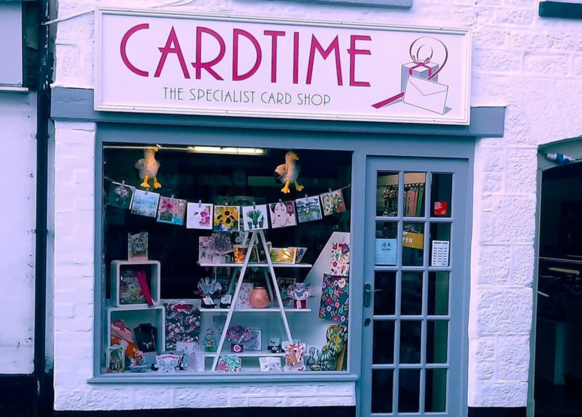 Above: Cardtime is a busy shop, when it is allowed to open!