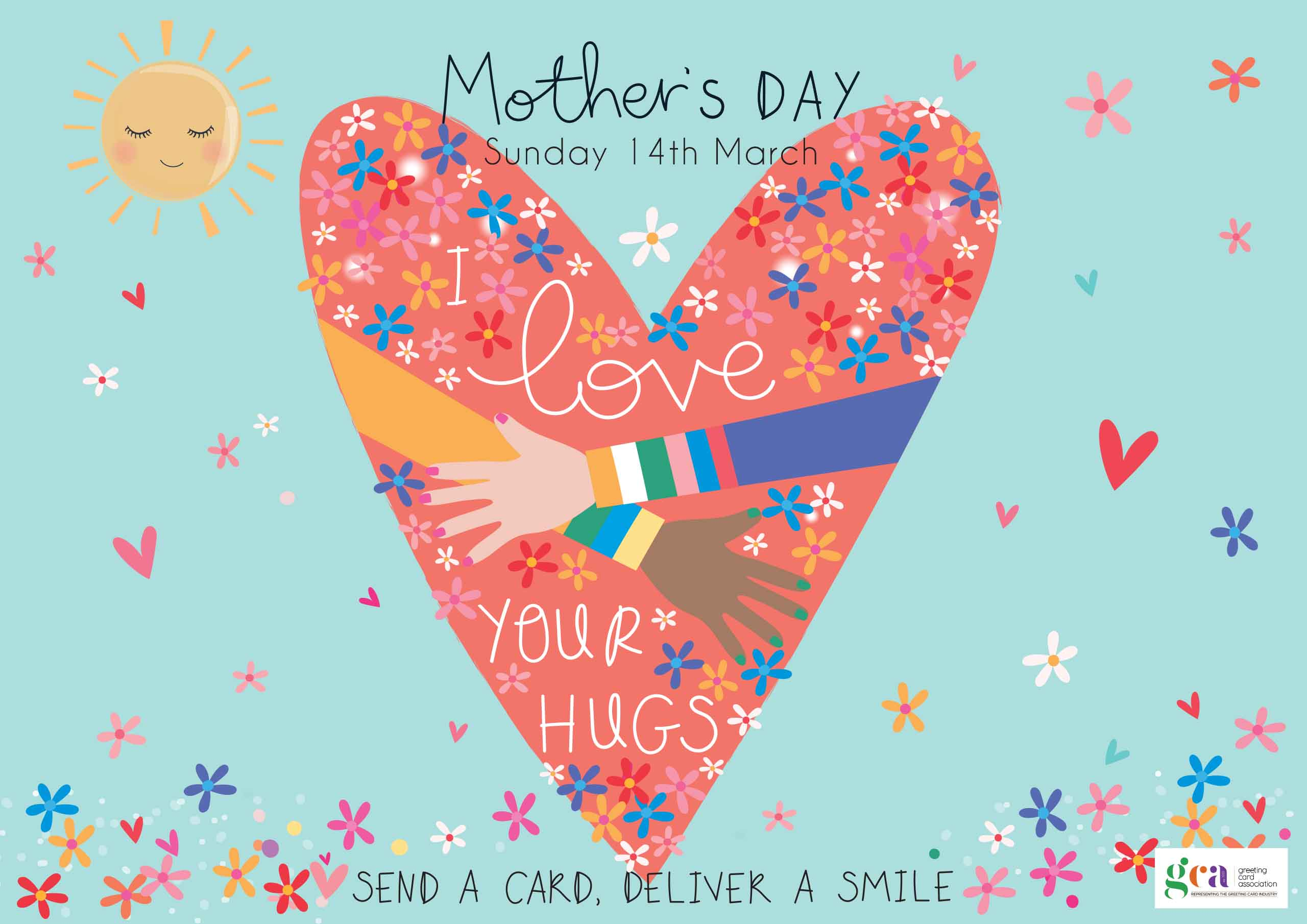 Above: Some of the Mother's Day PoS that was free to download from the GCA website (designed by Belly Button Designs).
