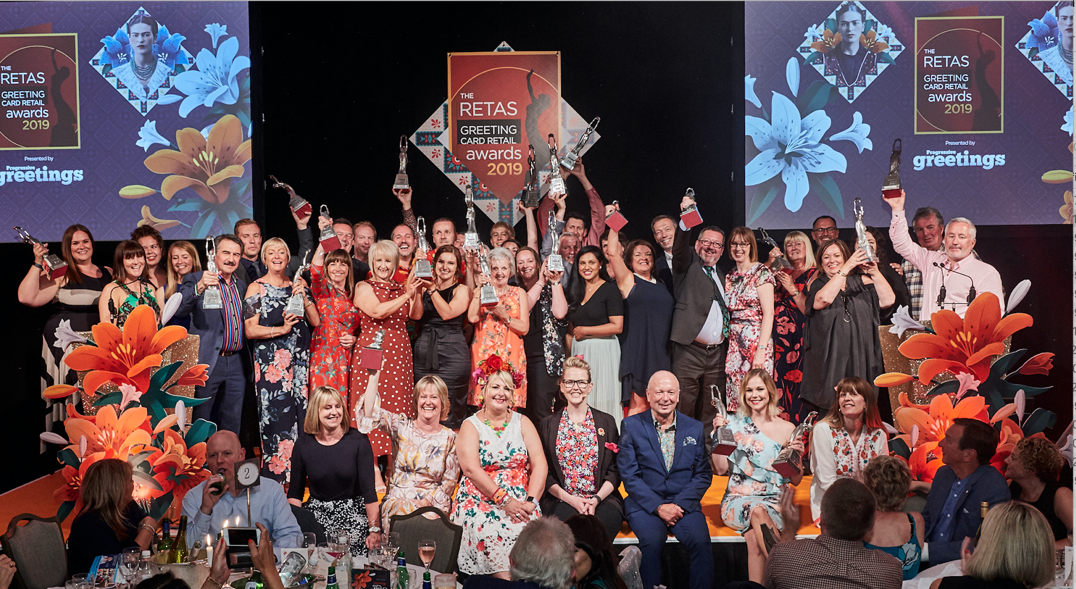 Above: The winners of The Retas 2019 on stage with their trophies. Who will be up there this year?!