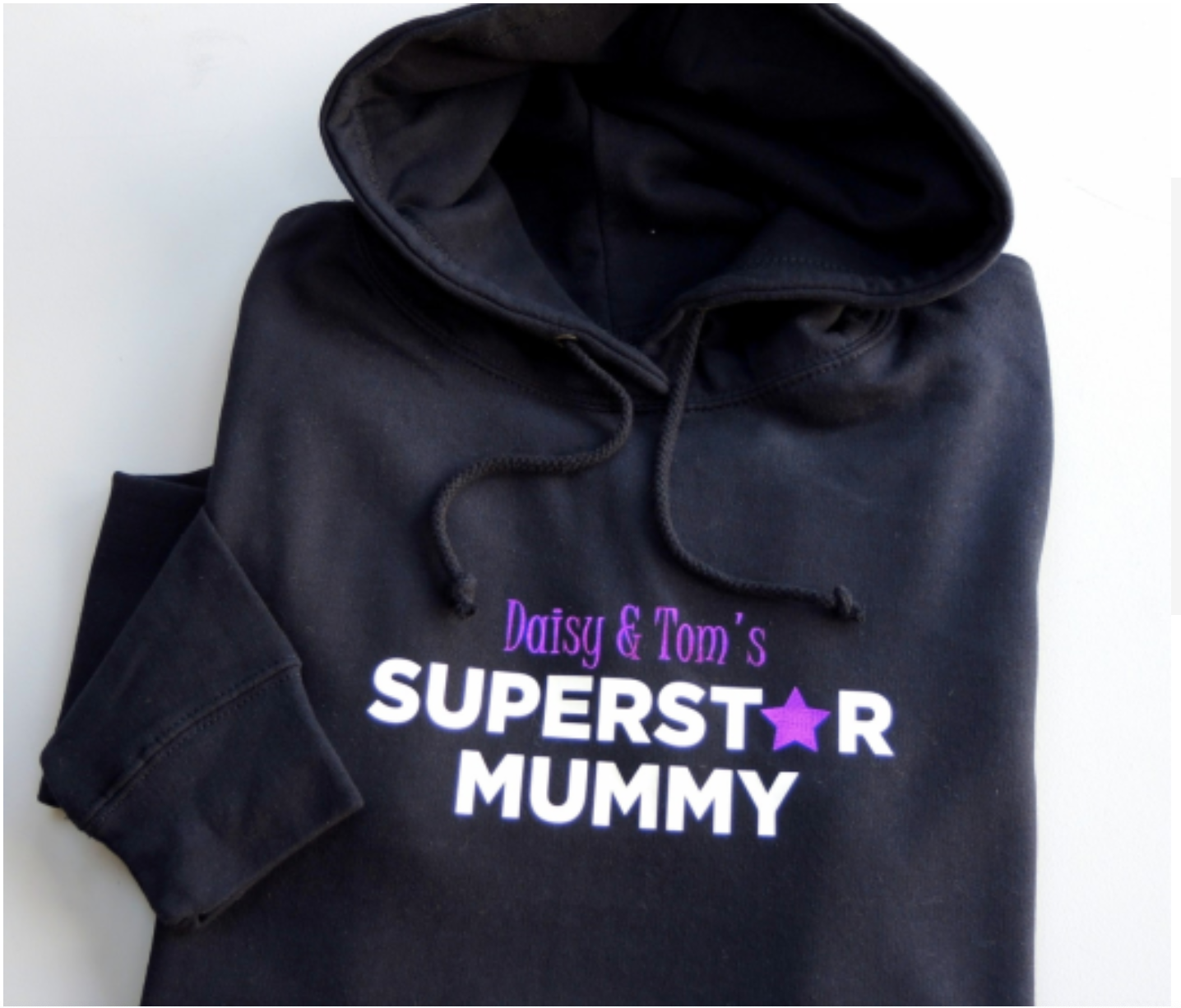 Above: The personalisable hoodie was the best selling Mother's Day product for The Alphabet Gift Shops.
