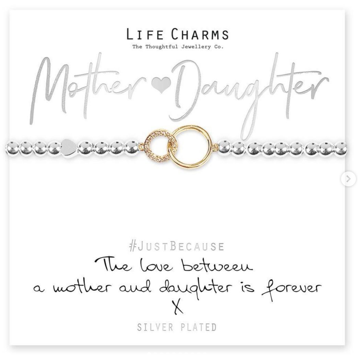 Above: A spot on sentiment gift from Life Charms that was promoted by Mooch.