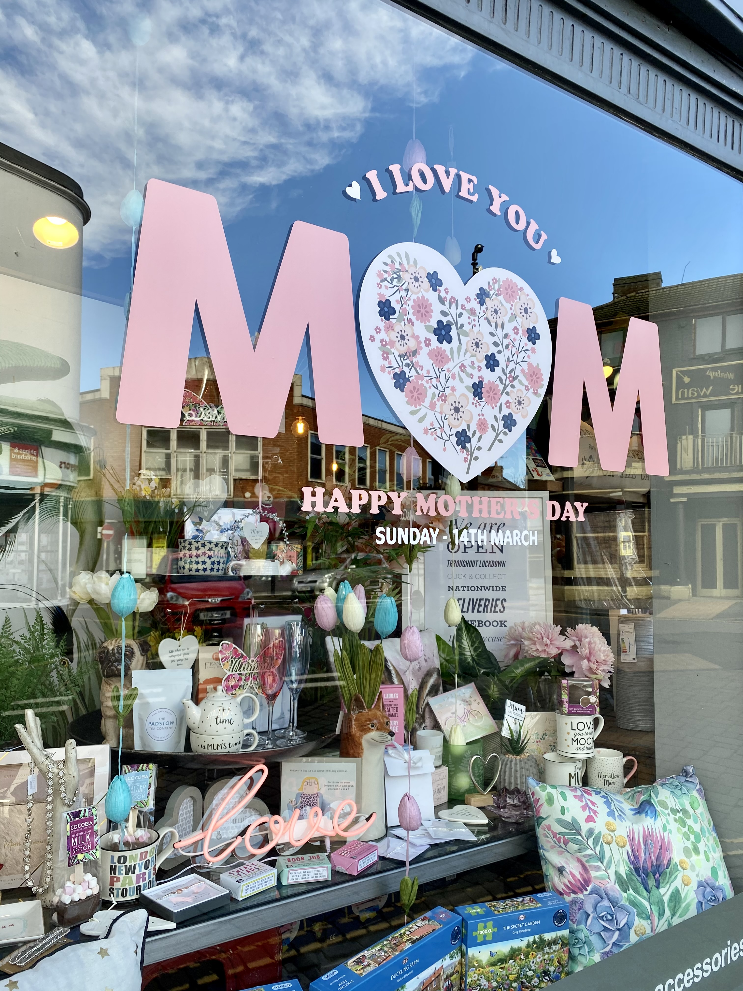 Above and top: Mooch in Bewdley and Stourport-on-Severn went to town on their window graphics.