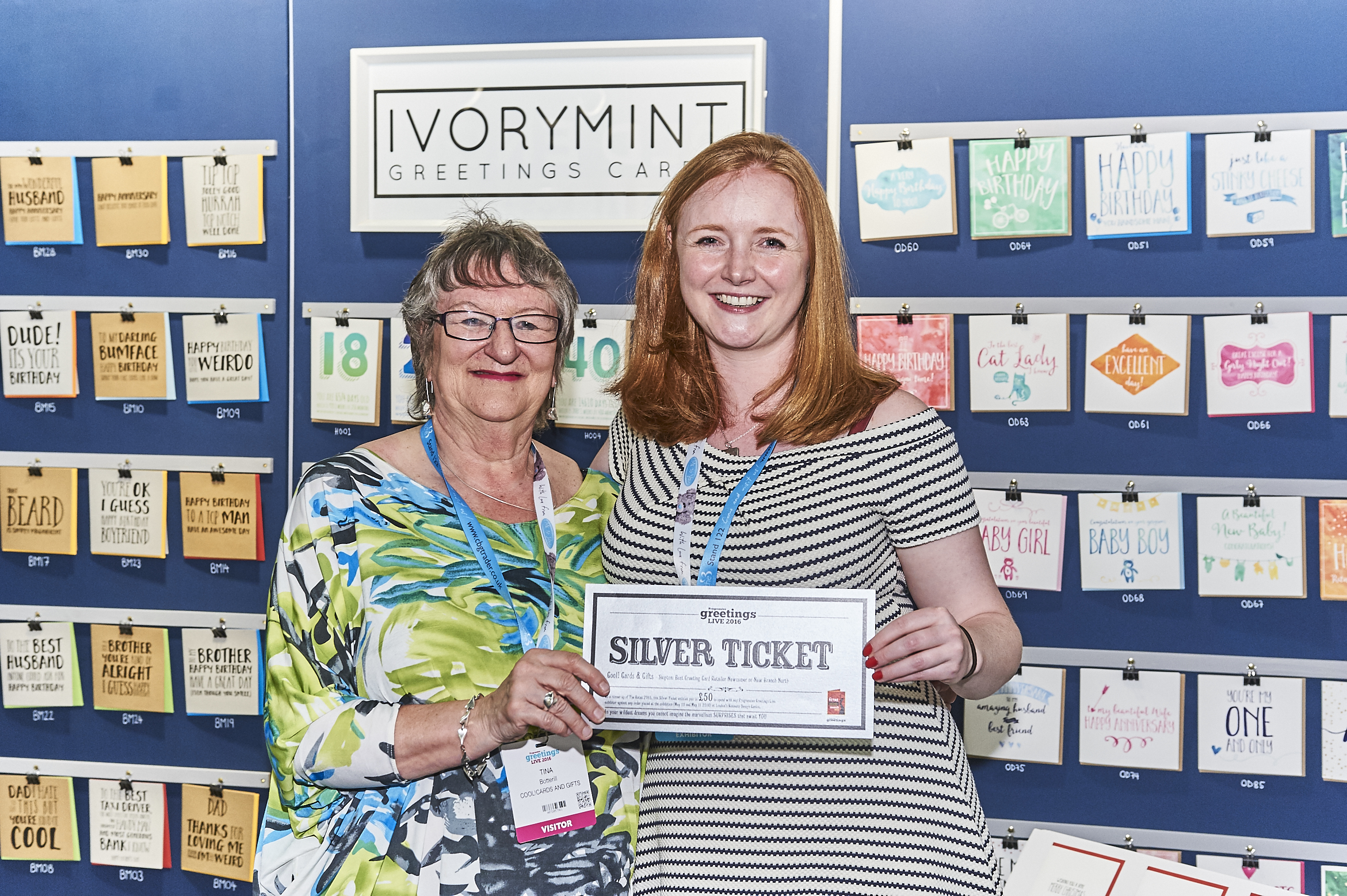 Above: Tina Botterill (left) on the Ivorymint stand at a PG Live.