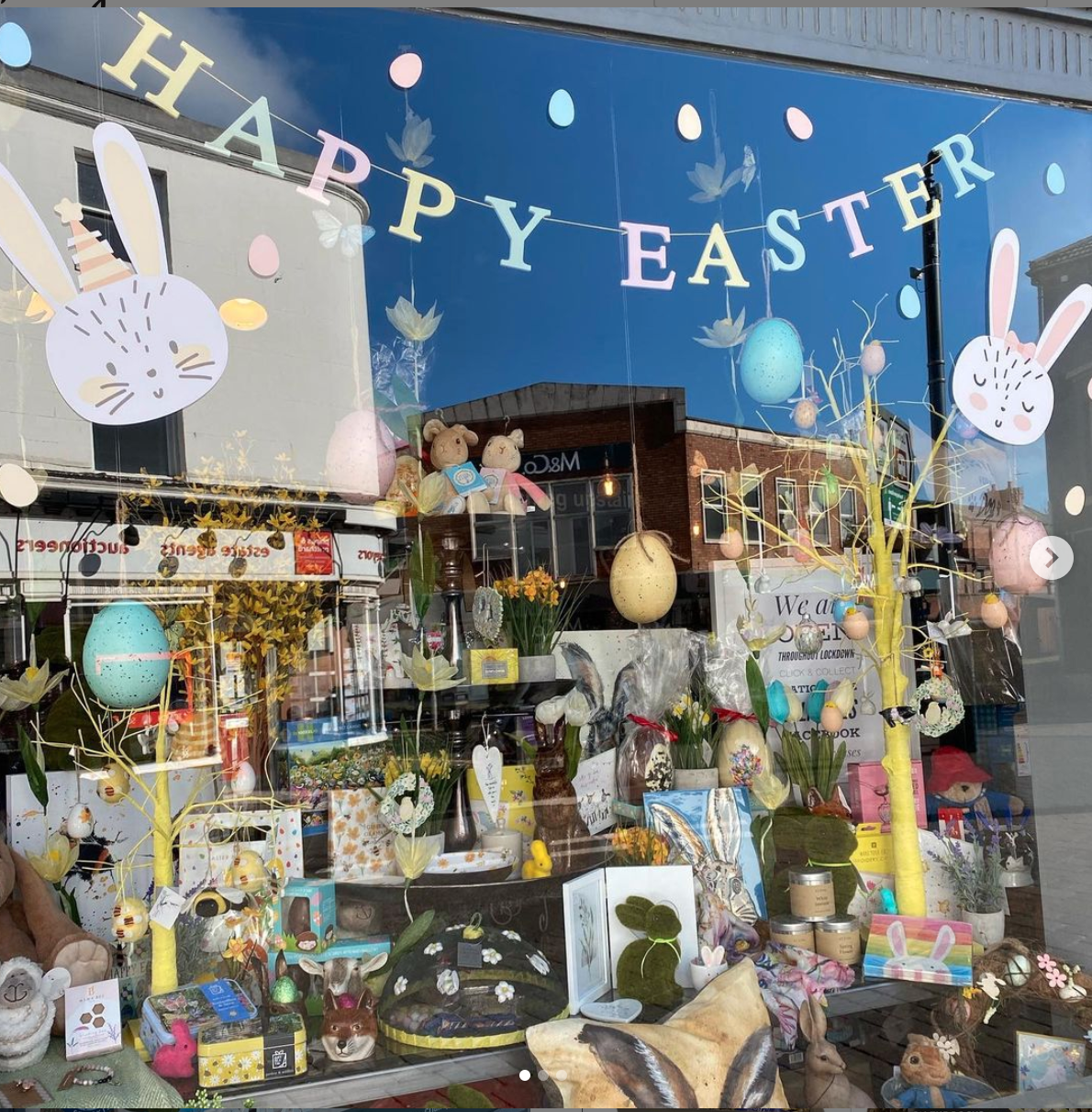 Above: A Mooch Easter window display which will drive sales from its website.