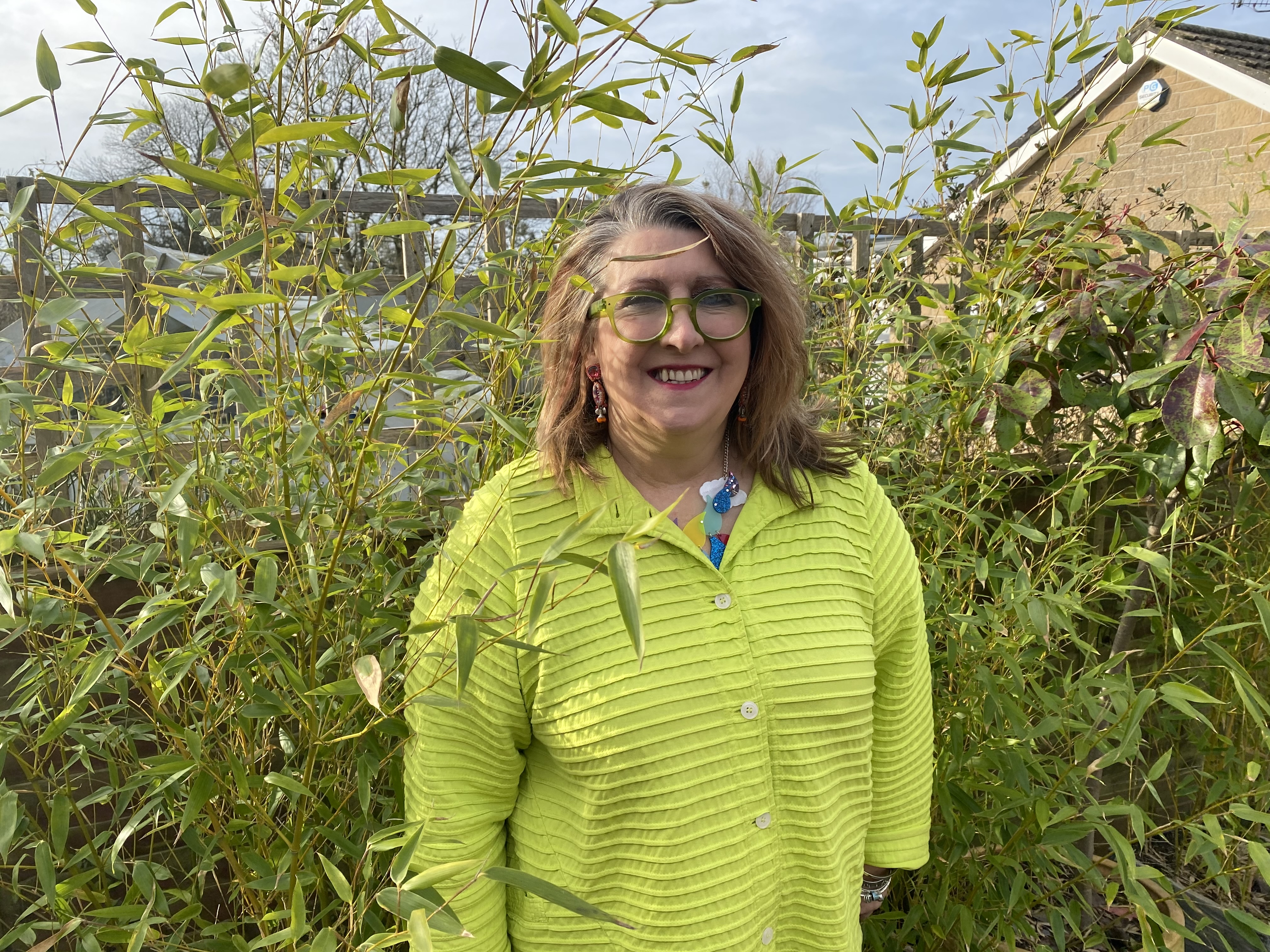 Above: Rosie Trow in her real garden.