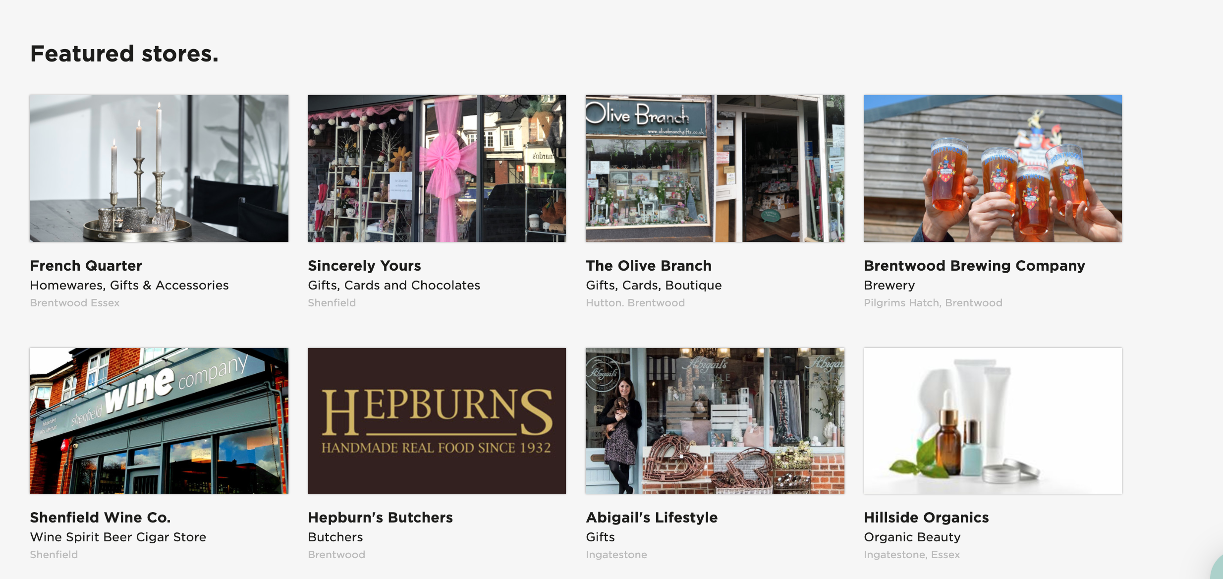 Above: Sincerely Yours is in good company on the Brentwood area platform.