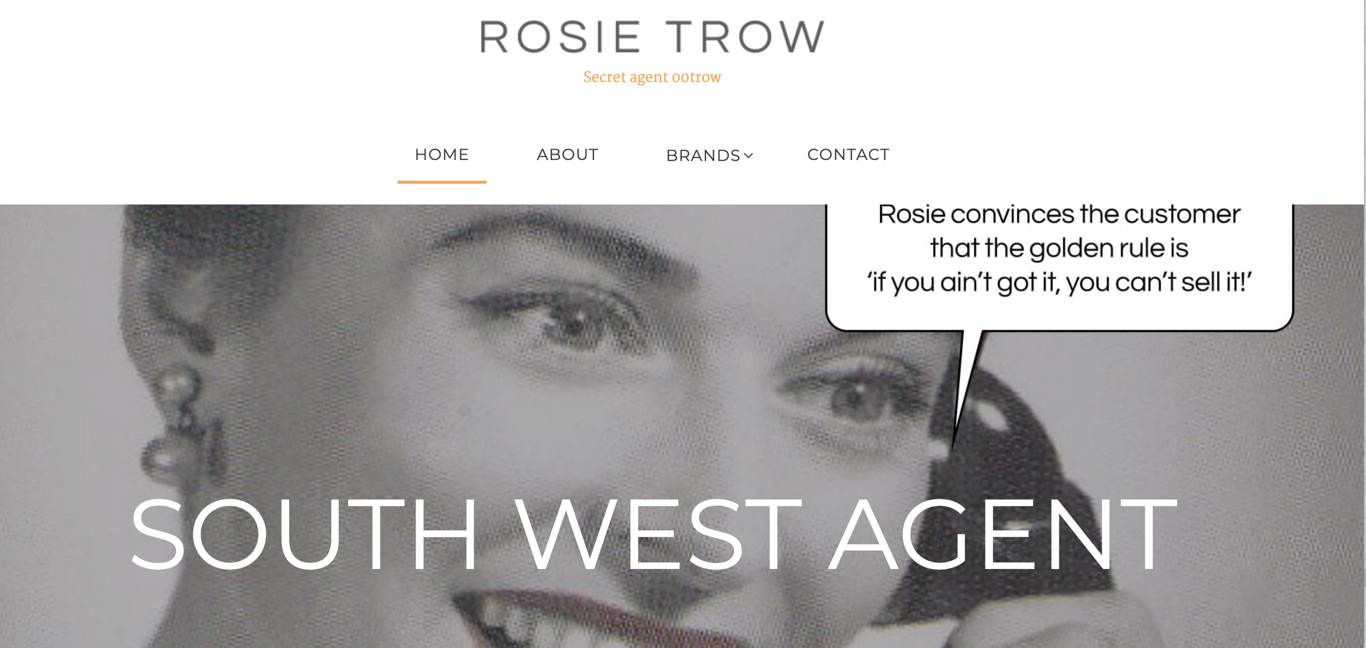 Above: Rosie commissioned a website to be built by Skylight Media so her customers can order from all of her principals.