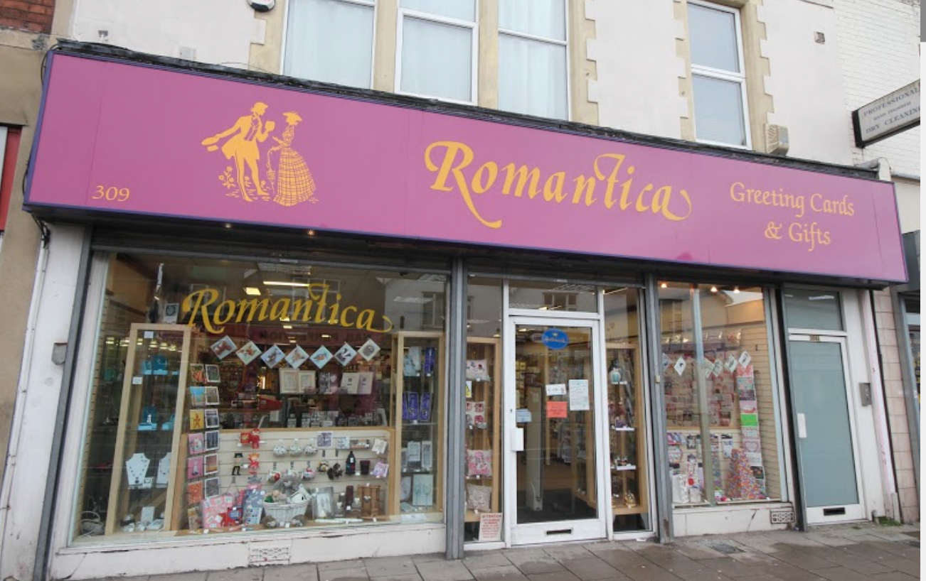 Above: Cardzone now owns the two Romantica stores in Bristol.