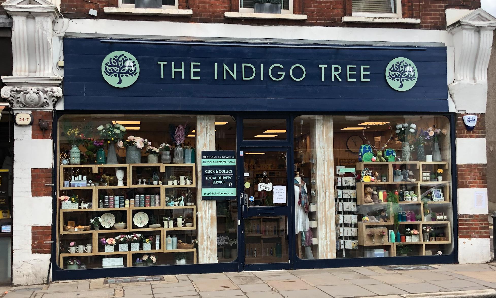 Above: The Indigo Tree's Crystal Palace shop.