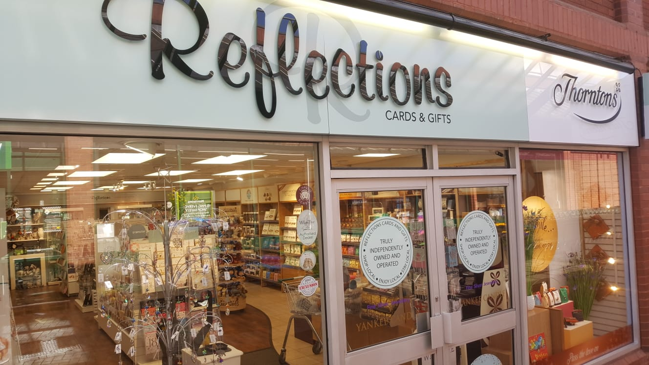 Above: Reflections in Rugeley received a warm welcome from its local customers yesterday.