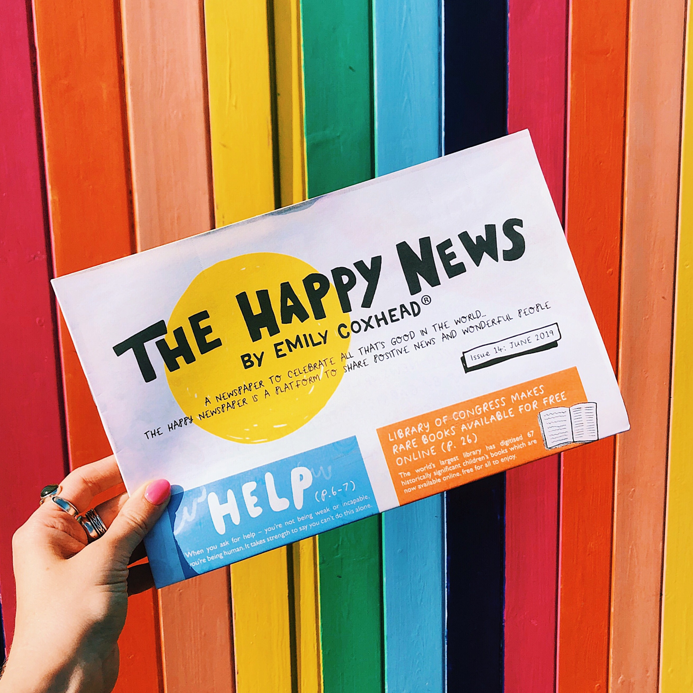 Above: The Earlybird team are to be giving out tote bags containing a free copy of The Happy Newspaper as part of its reopening activity.