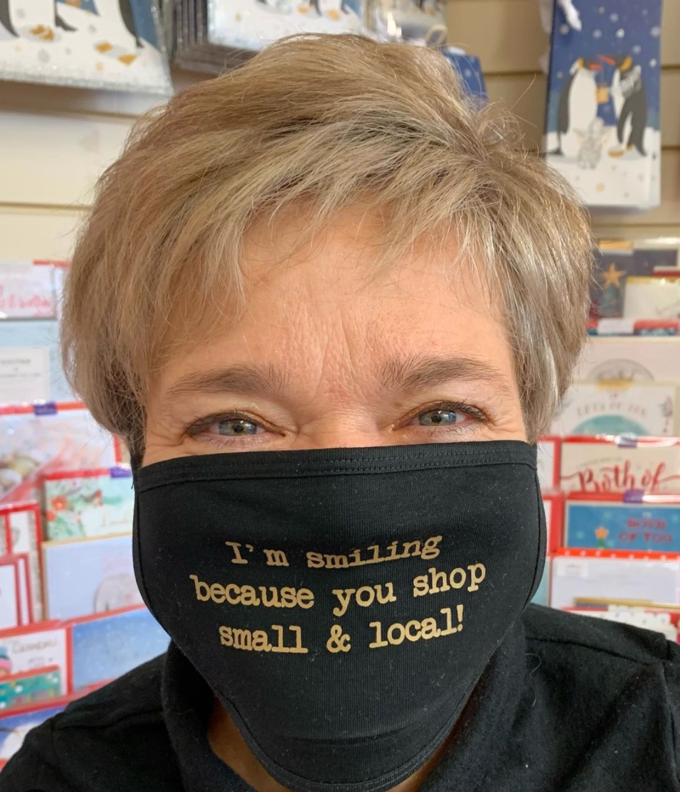 Above: While Pamela Ness of Bearing Gifts in Troon says the shop's website has exceeded expectations her customers have stressed they so prefer to shop physically.