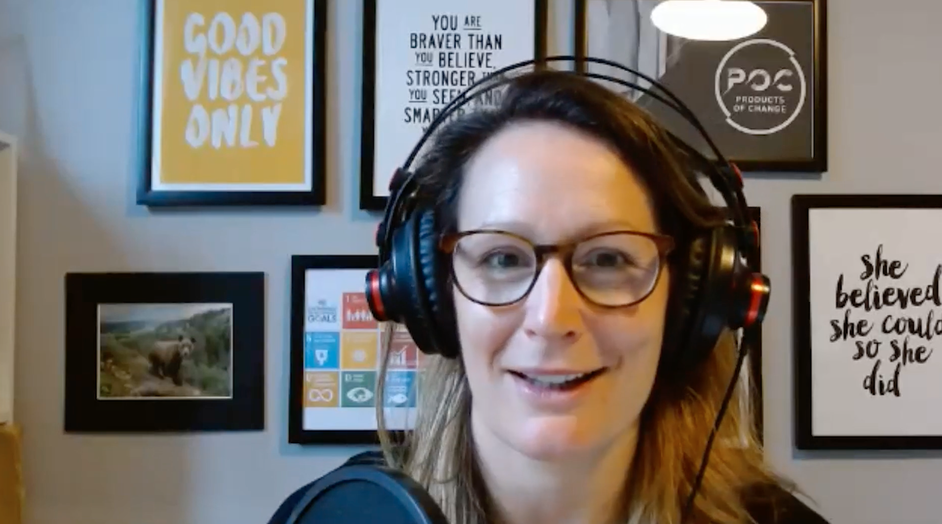 Above: Helena Mansell-Stopher, on one of the many videos on the site. As founder of POC, Helena is leading the way with Products of Change, championing protecting the planet while being aware of the commercial needs of business.