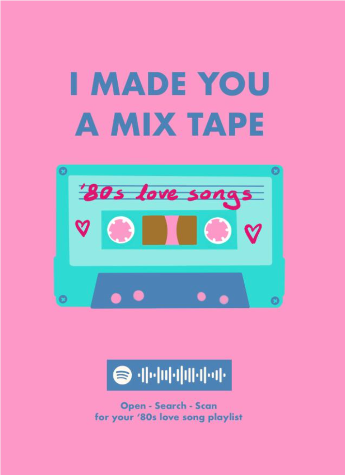 Above: A new take on sending someone a cassette mix tape!