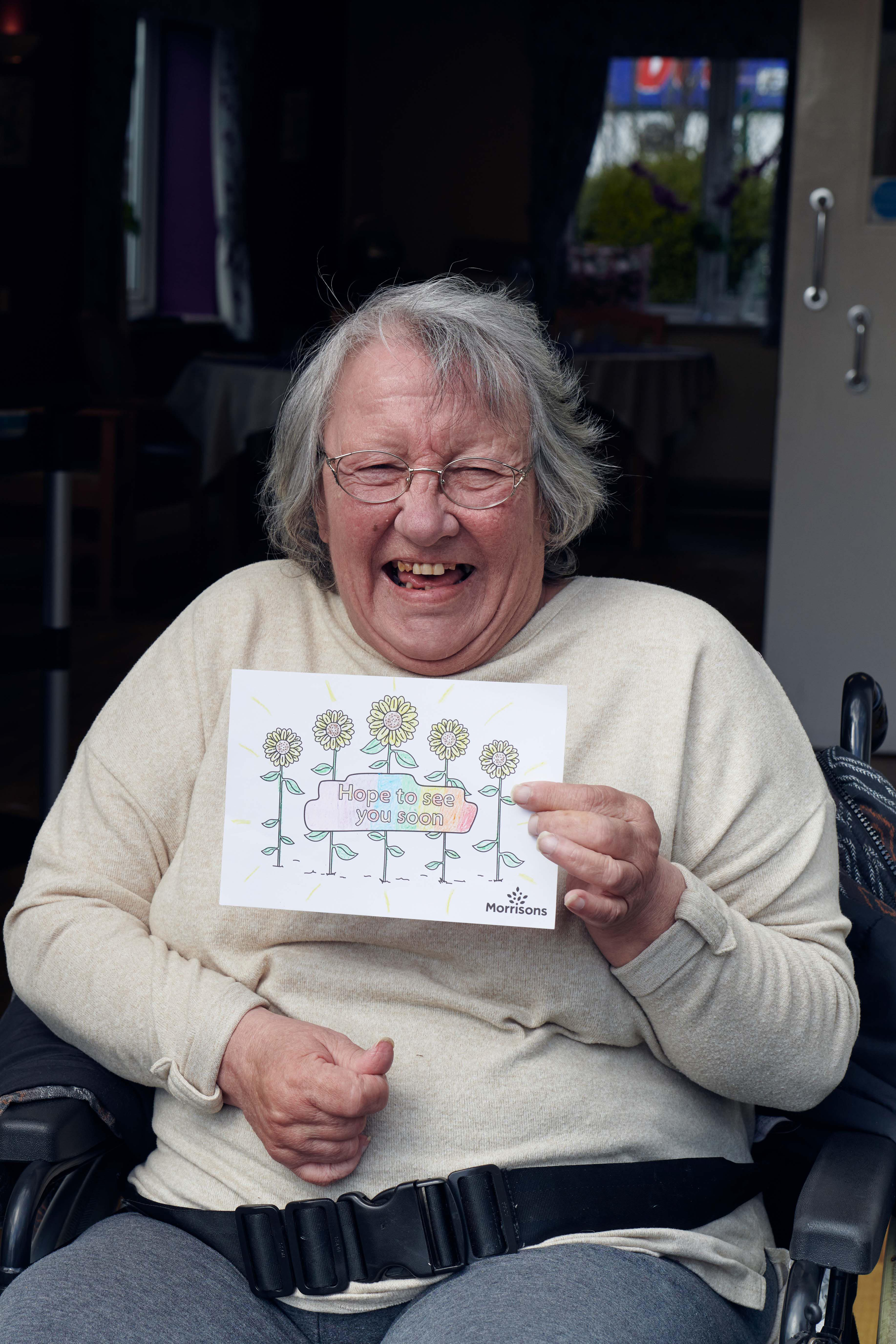 Above: The postcards are being received by those in care homes.