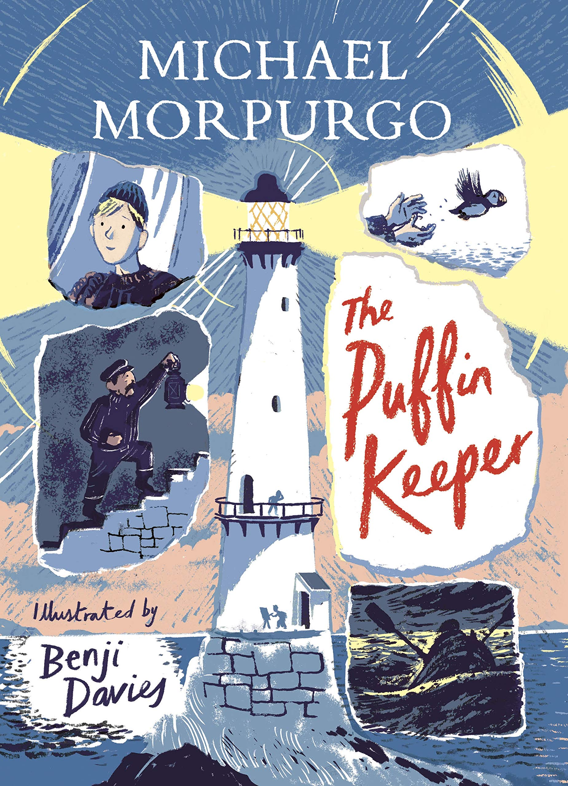 Above: Benji Davies (part of The Bright Agency stable) created the artwork for the book cover of Michael Morpurgo's book, The Puffin Keeper.