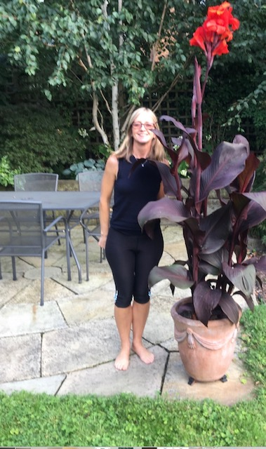 Above: London agent Fiona Lychehan in her garden.