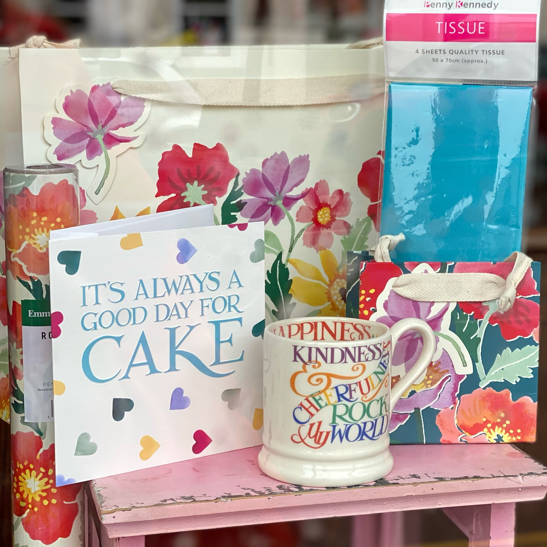 Above: Emma Bridgewater cards from Woodmansterne are among the faves of Daisy Park's customers in South Molton.