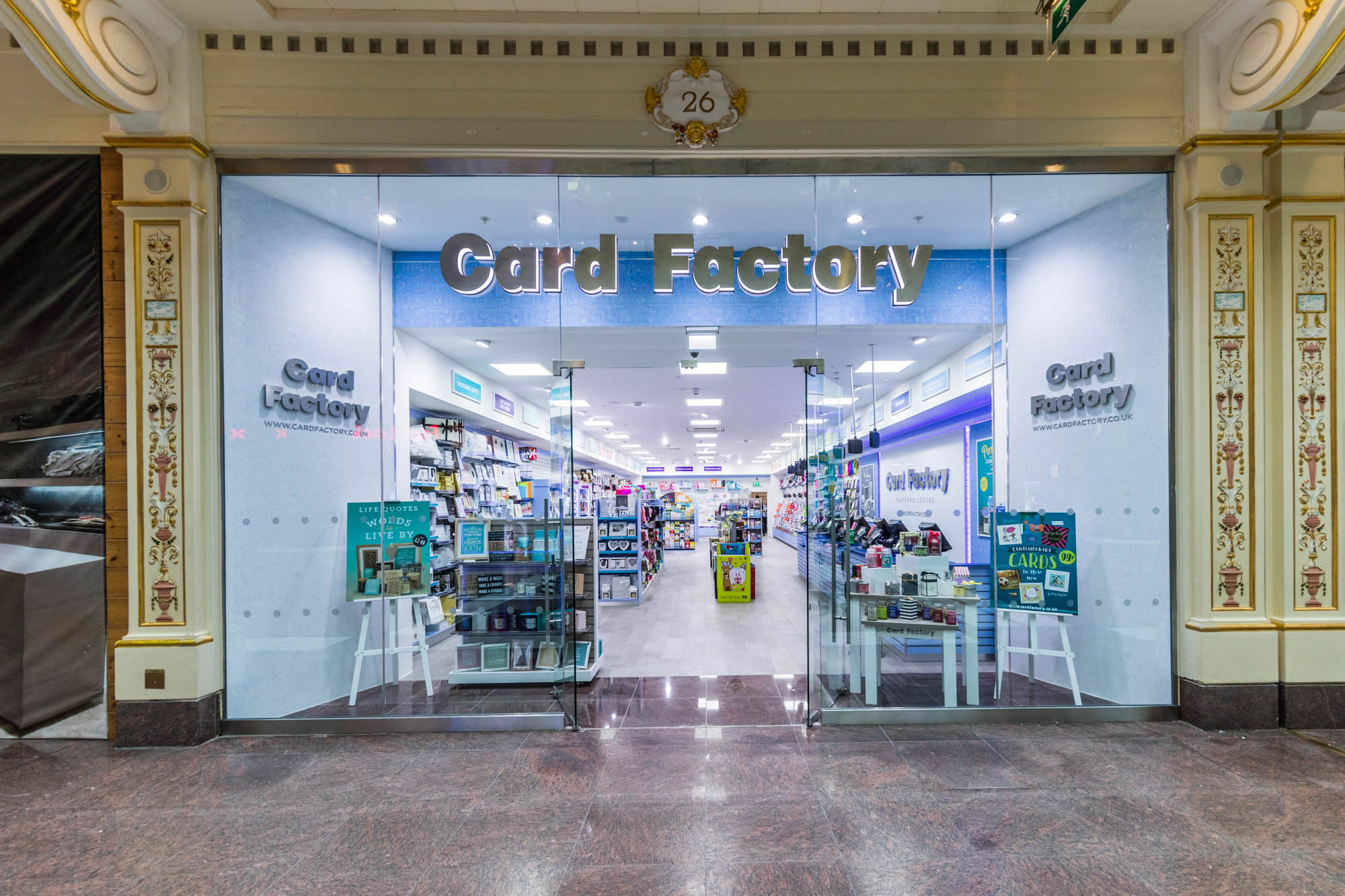 """Above: Card Factory's trade since reopening has """"exceeded expectations""""."""