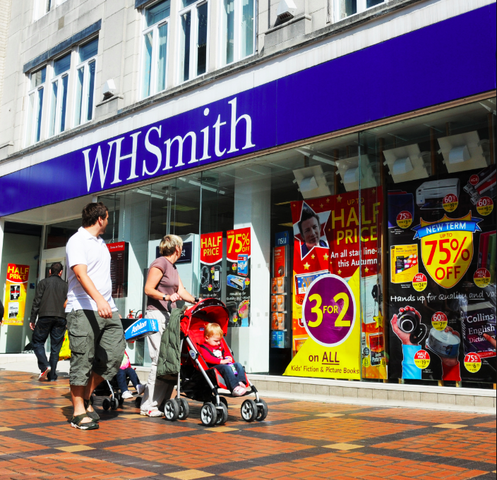 Above: WHSmith's High Street stores have performed well.