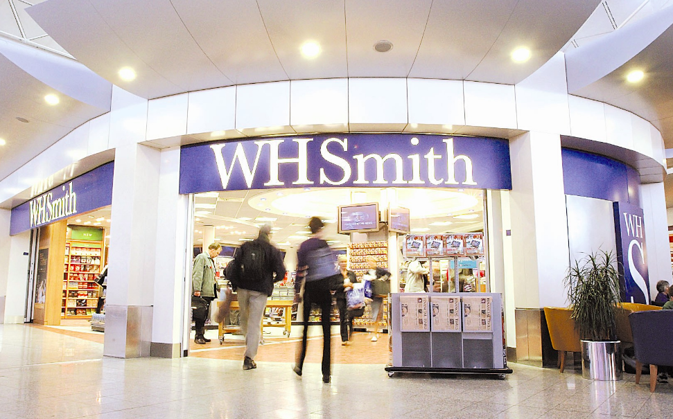 Above: An addition 100 WHSmith Travel stores are to open over the next few years.