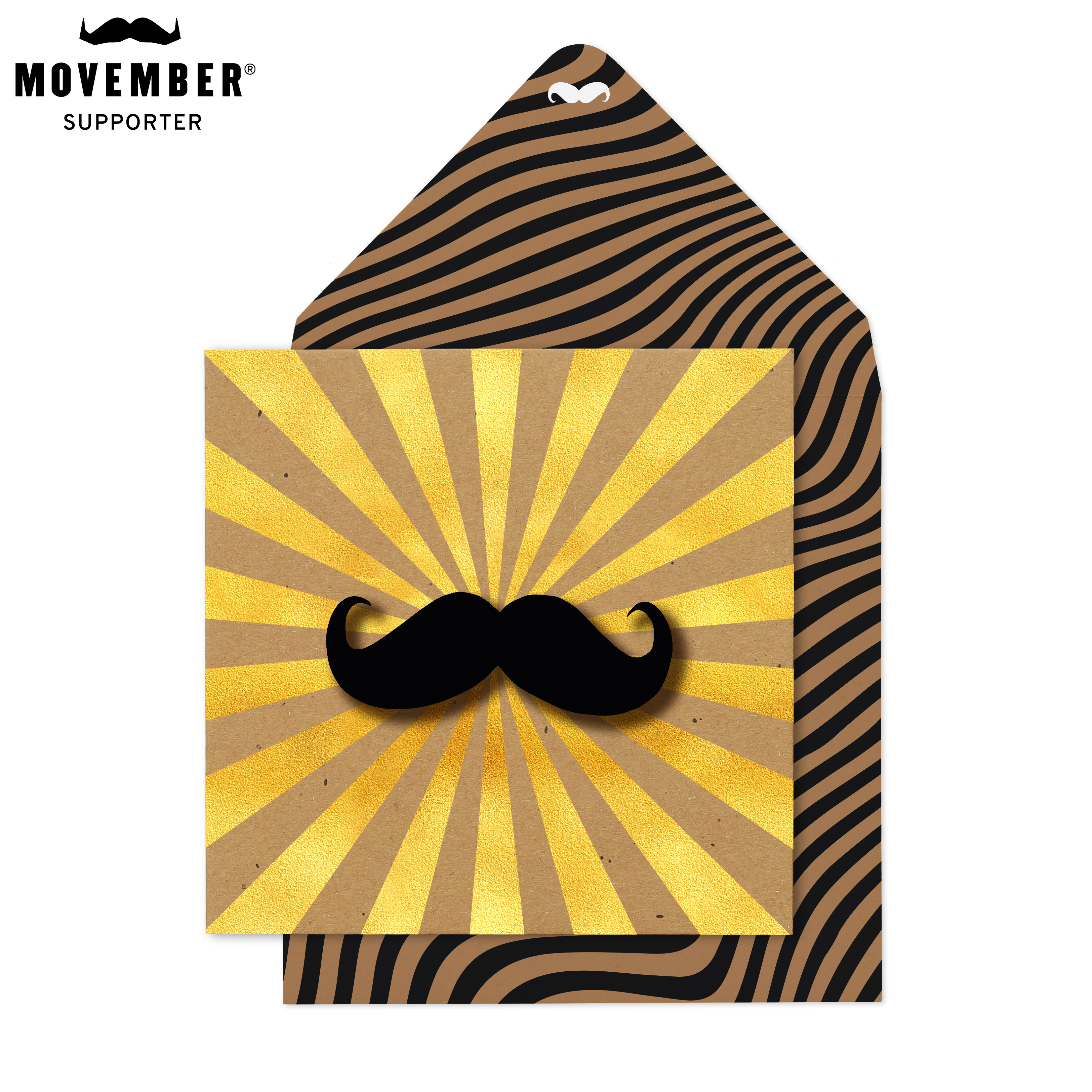 Above: Moustache's do feature in some of the Modern Mister designs, but not all.