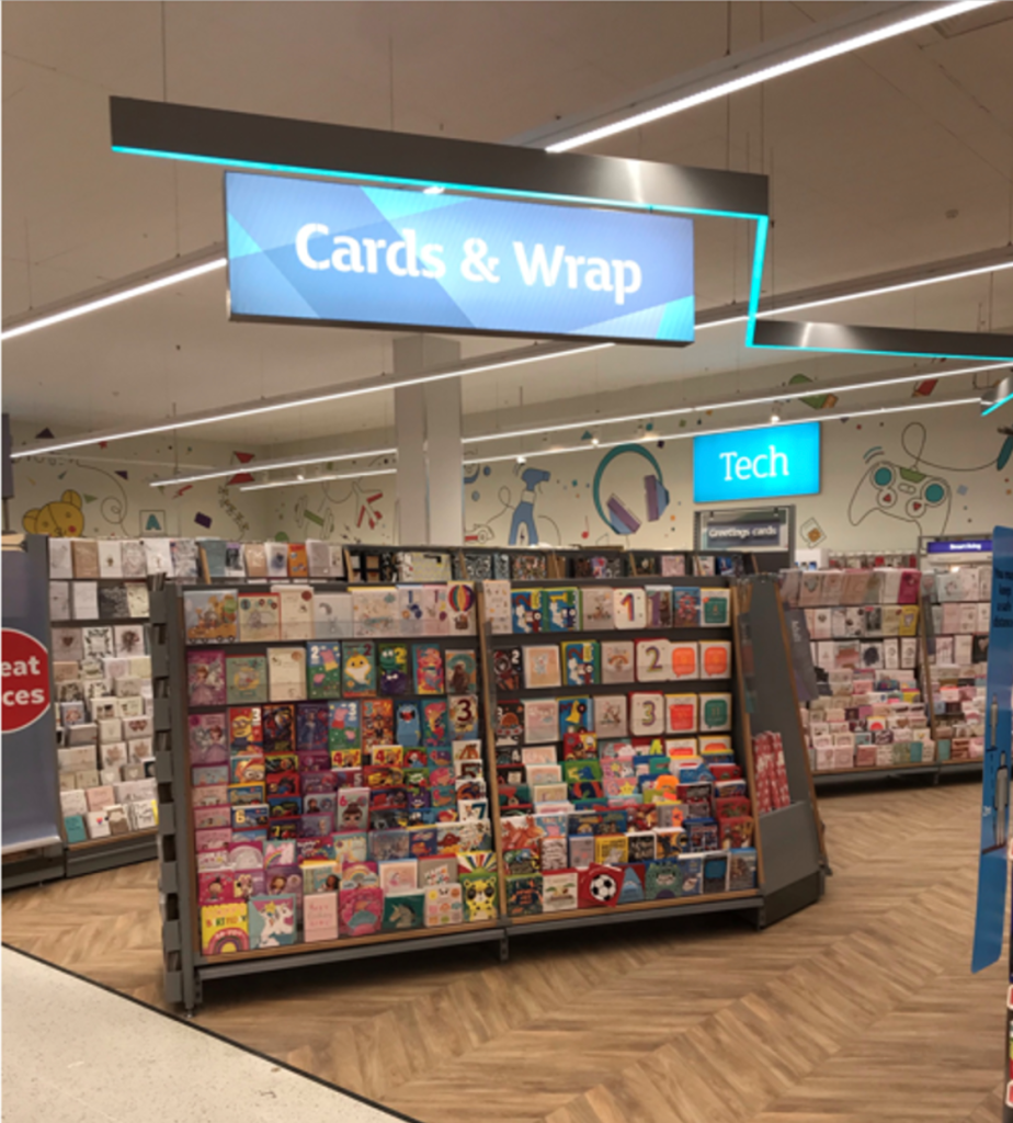 Above: A new look card department has been introduced into a number of Sainsbury's stores over the last few months.