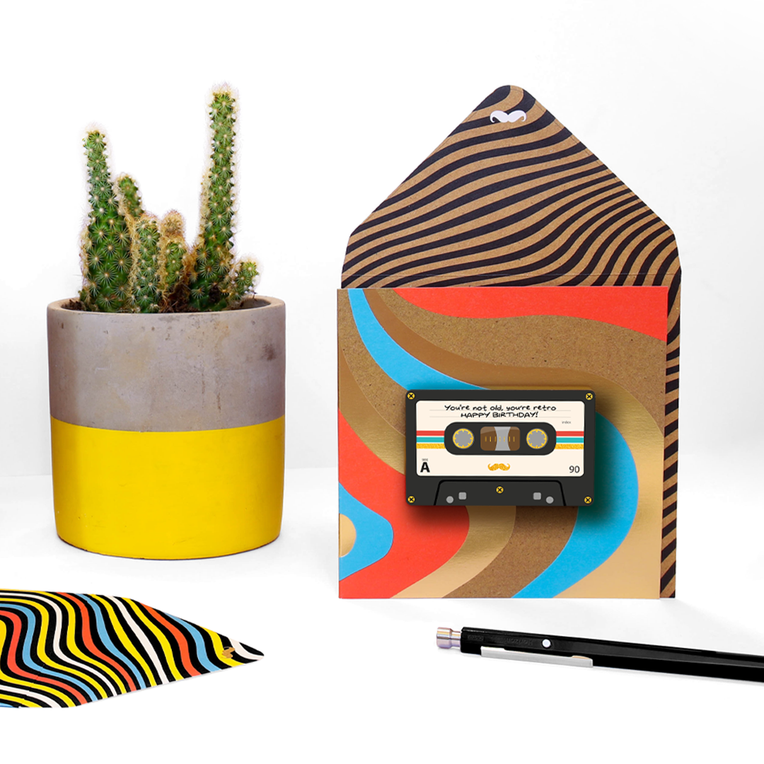 Above: Connecting through music – the mix tape design from the range.