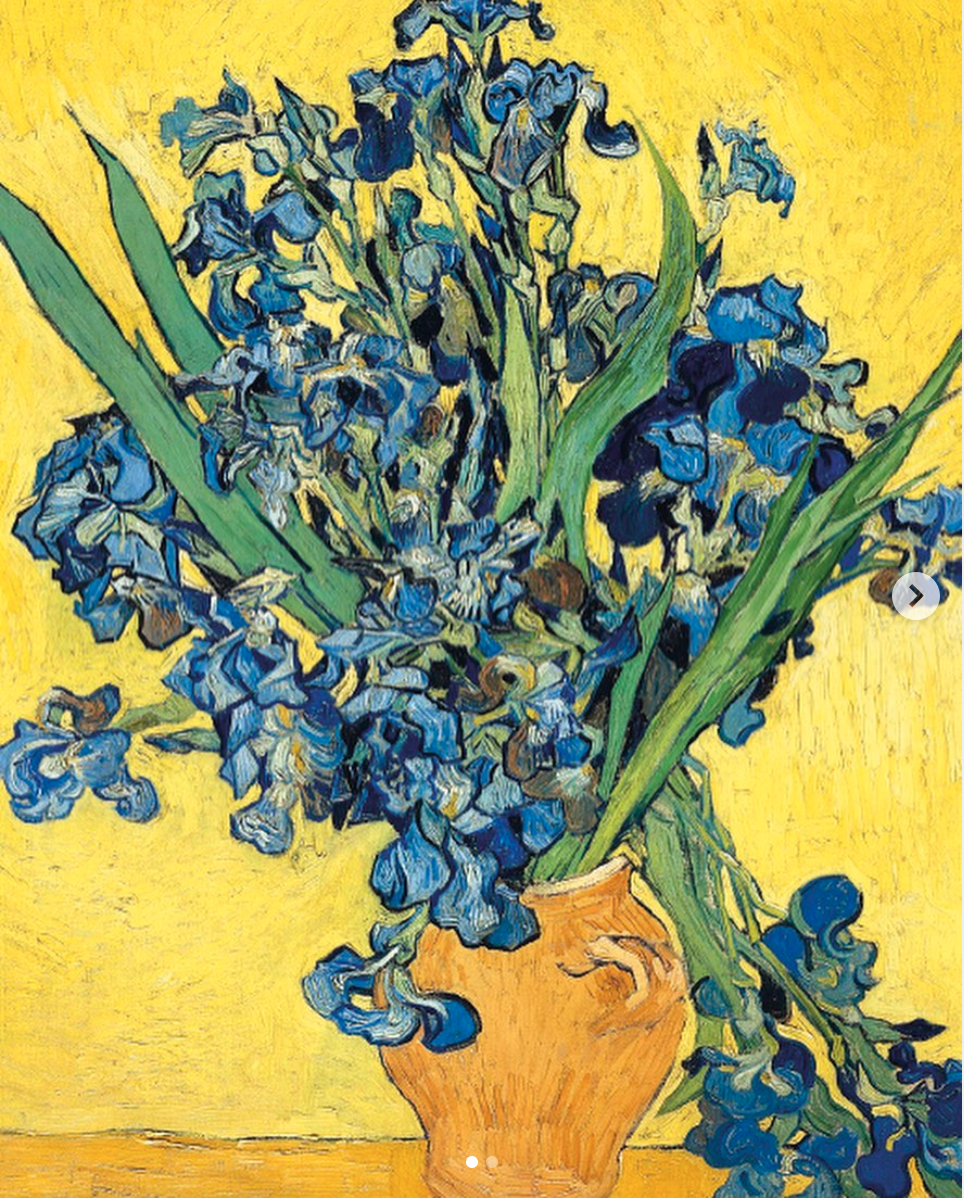 Above: Van Gogh's Irises appears in Museums & Galleries Classics collection.
